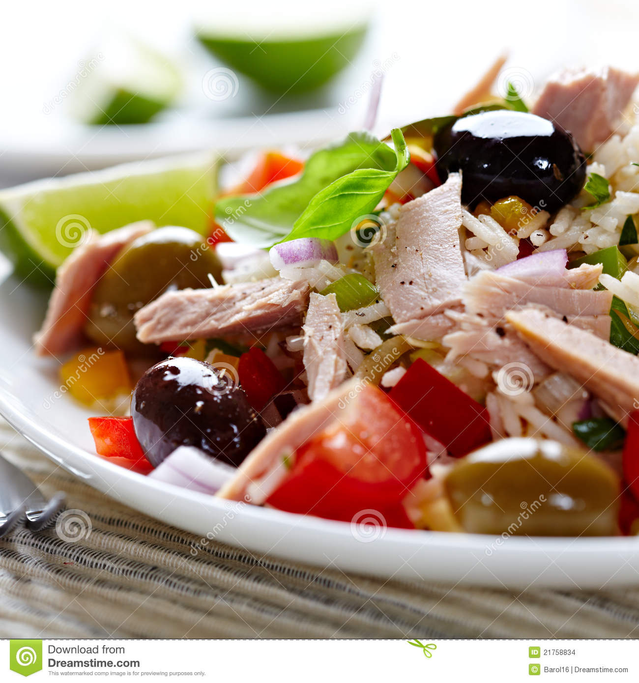 Mediterranean-style Salad Royalty-Free Stock Photo