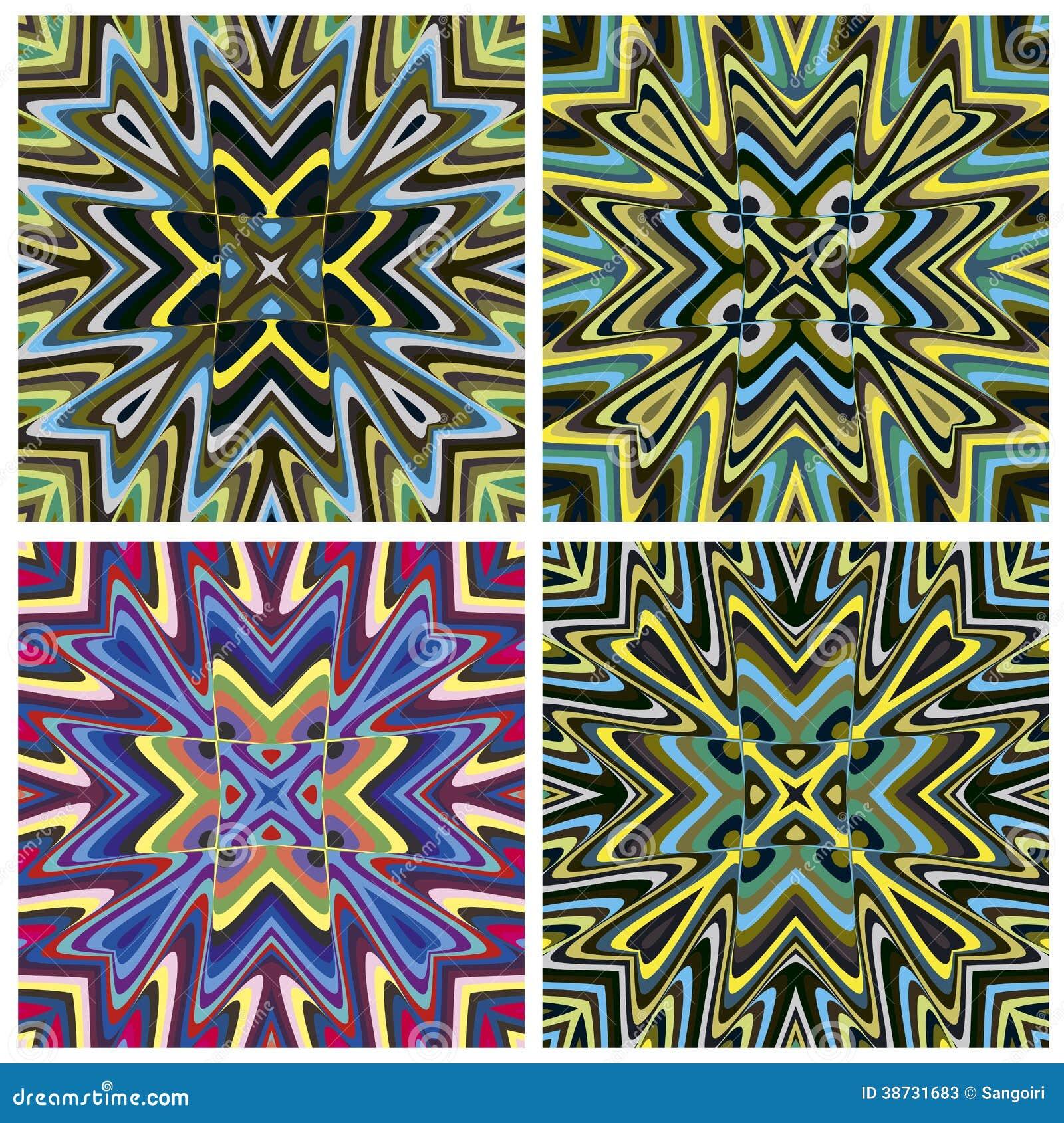 Mediterranean Style Tile Pattern Stock Photos