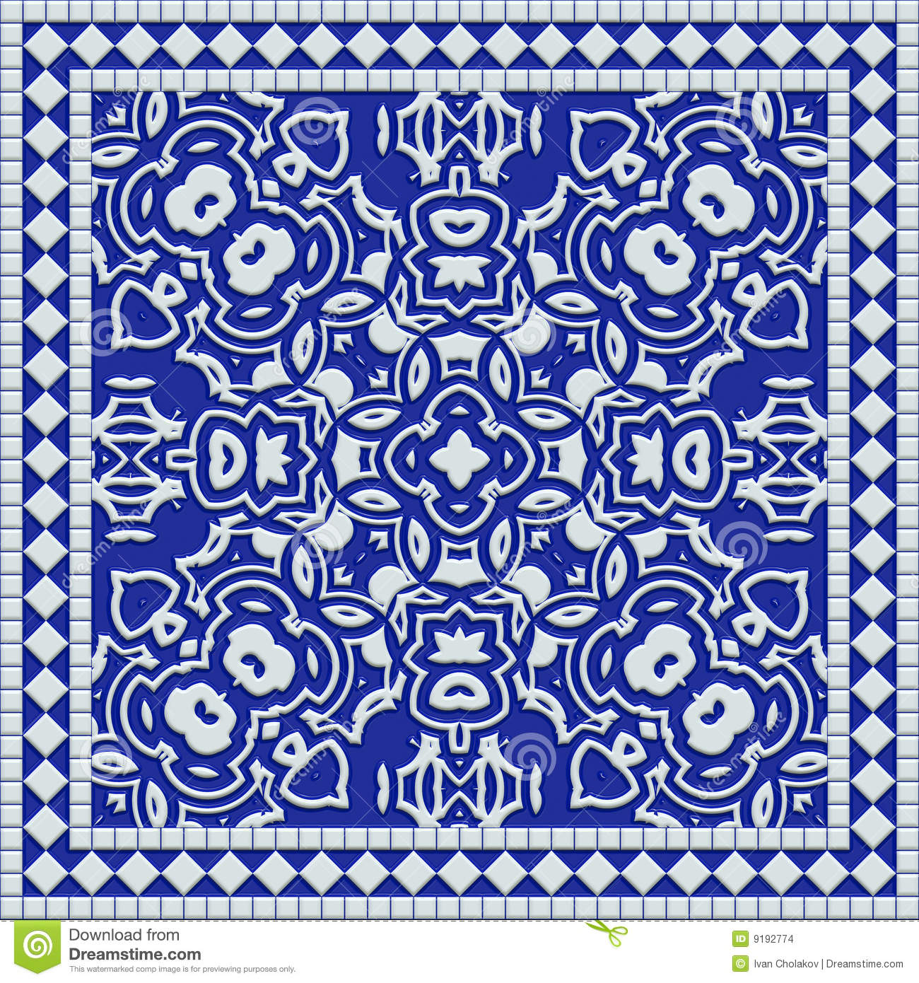 Mediterranean Tile Stock Illustration Illustration Of