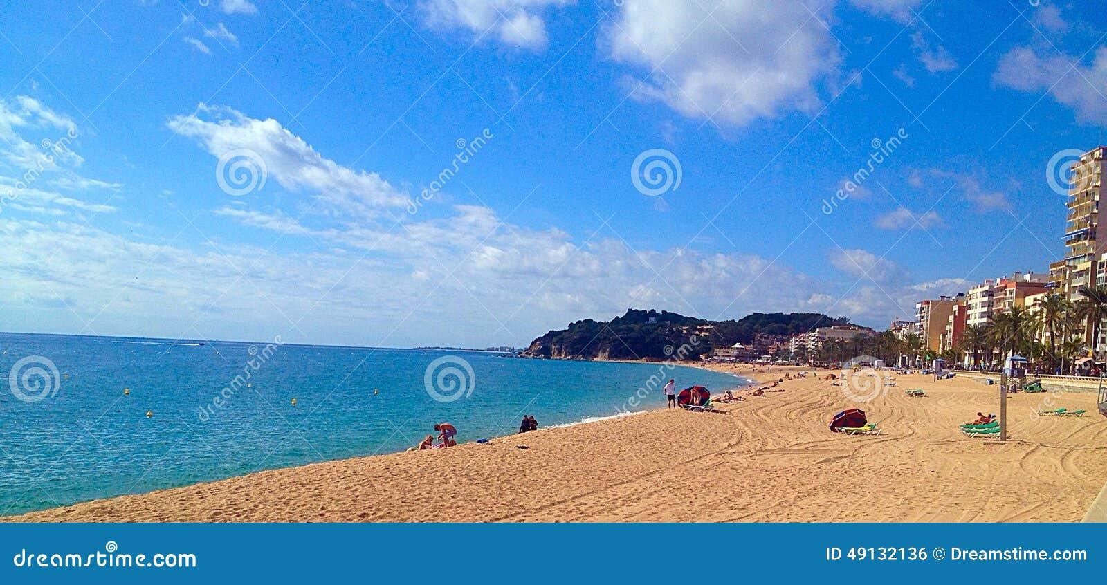 Mediterranean View From Spanish Coast Stock Photo - Image ...