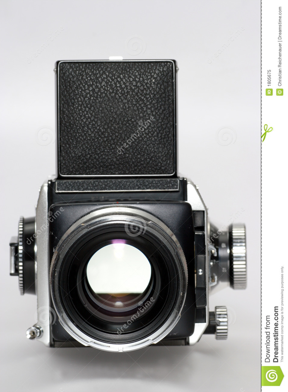 Medium Format Camera With Lens Frontview Stock Image - Image of