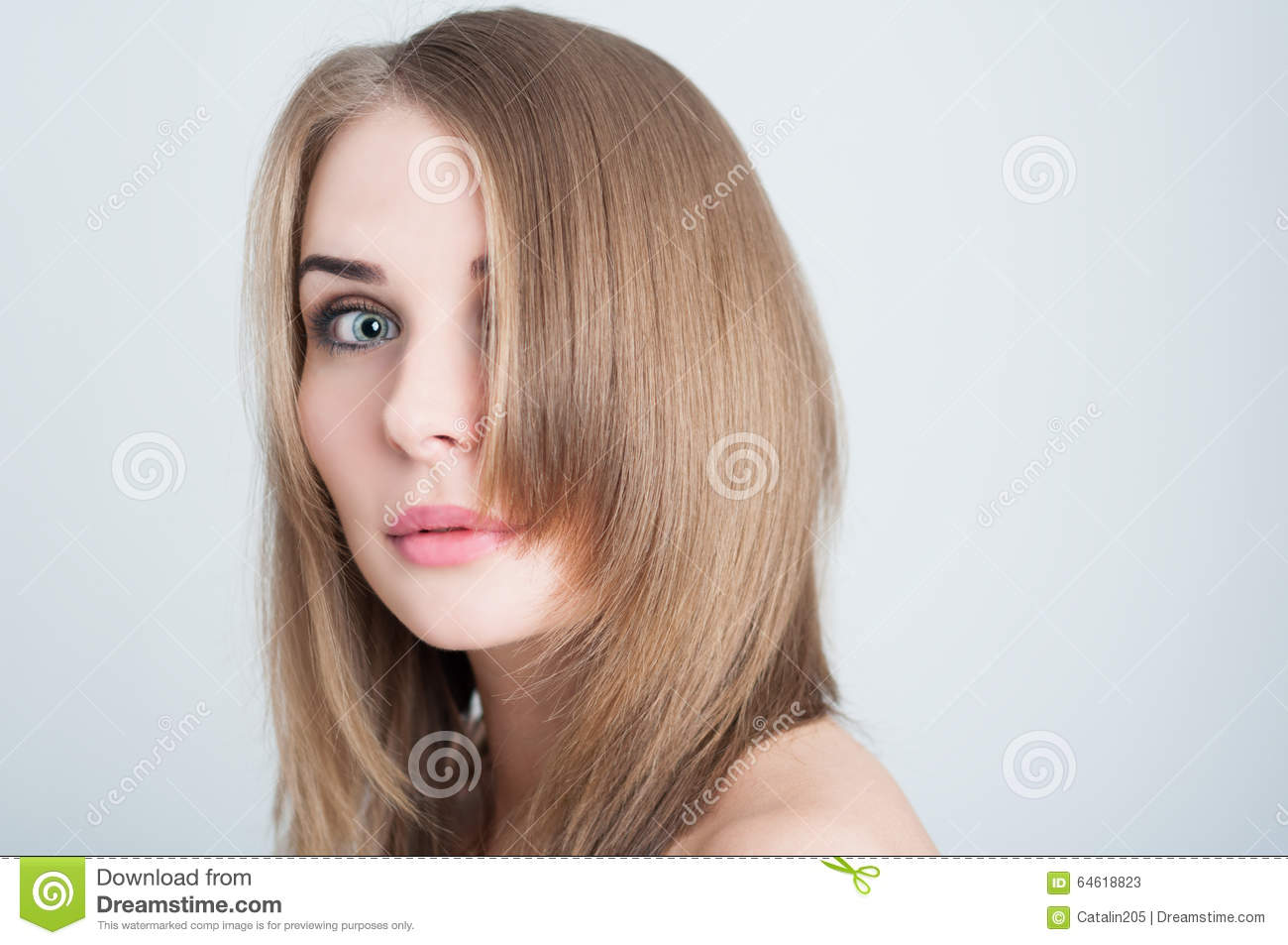Image result for stock photo medium blonde hair