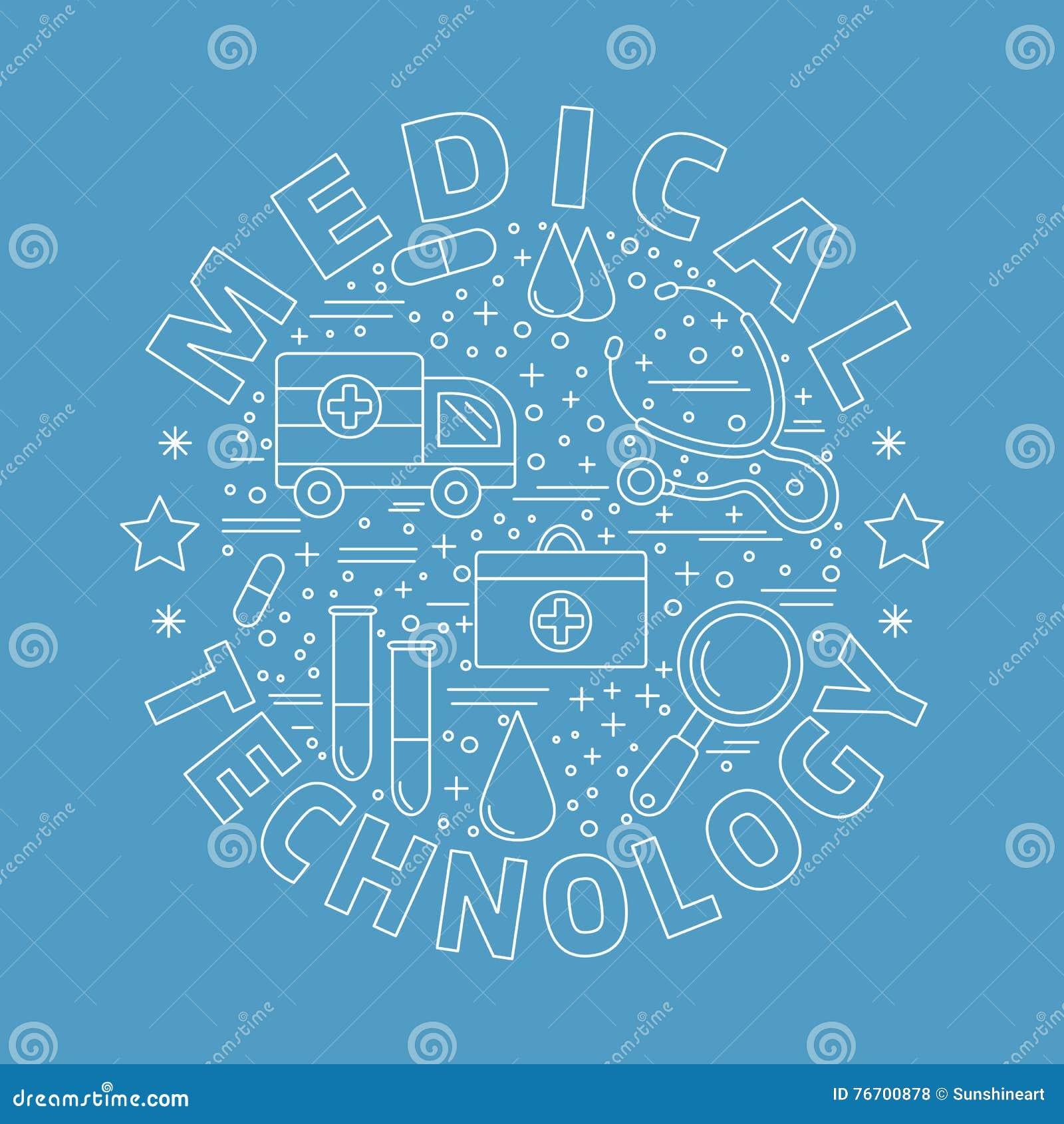 Medizinische Diagnose, Überprüfungsgrafikdesignkonzept