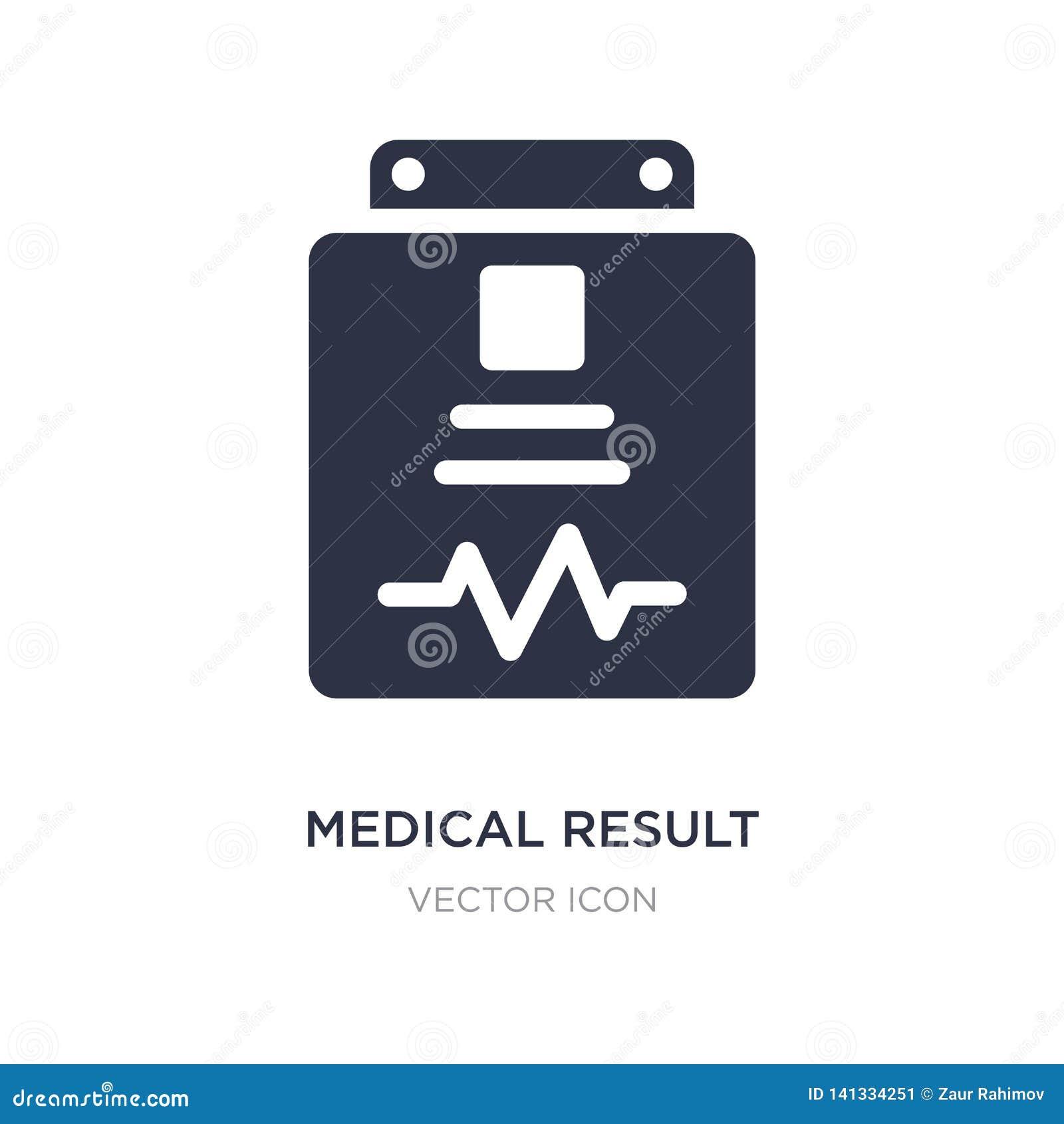 Medizinische Ergebnisikone auf weißem Hintergrund Einfache Elementillustration von der Gesundheit und vom medizinischen Konzept