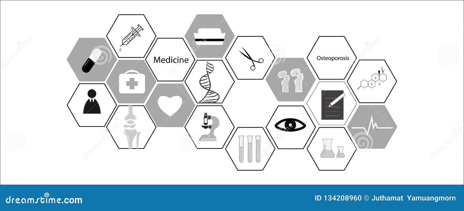 Medizinische Ikone auf weißem Hintergrund Vektorillustration - Vektor