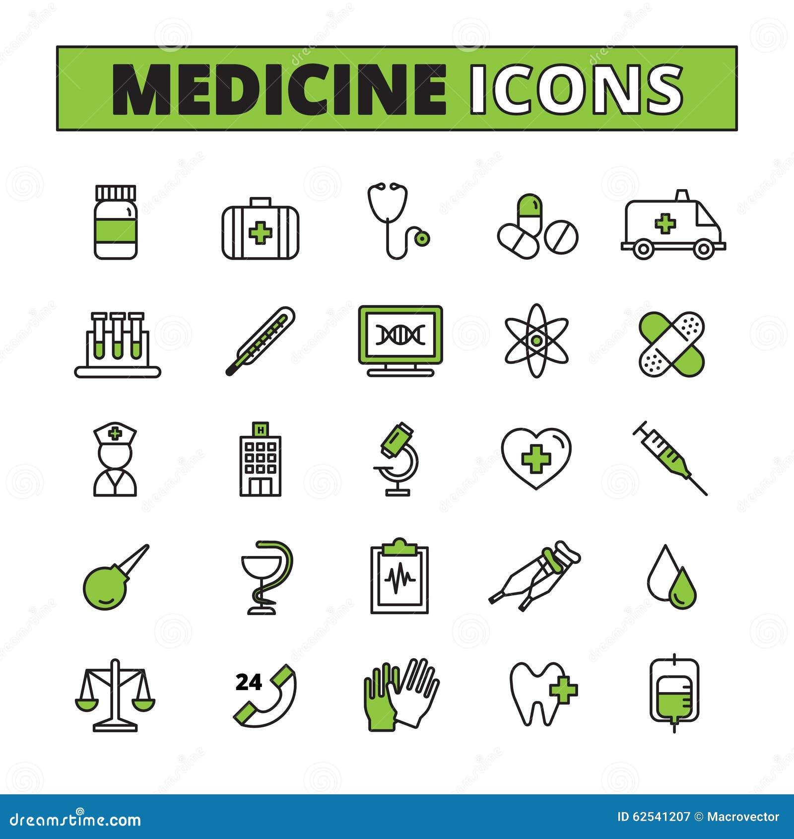 Medizinische Ikonen stellten ein