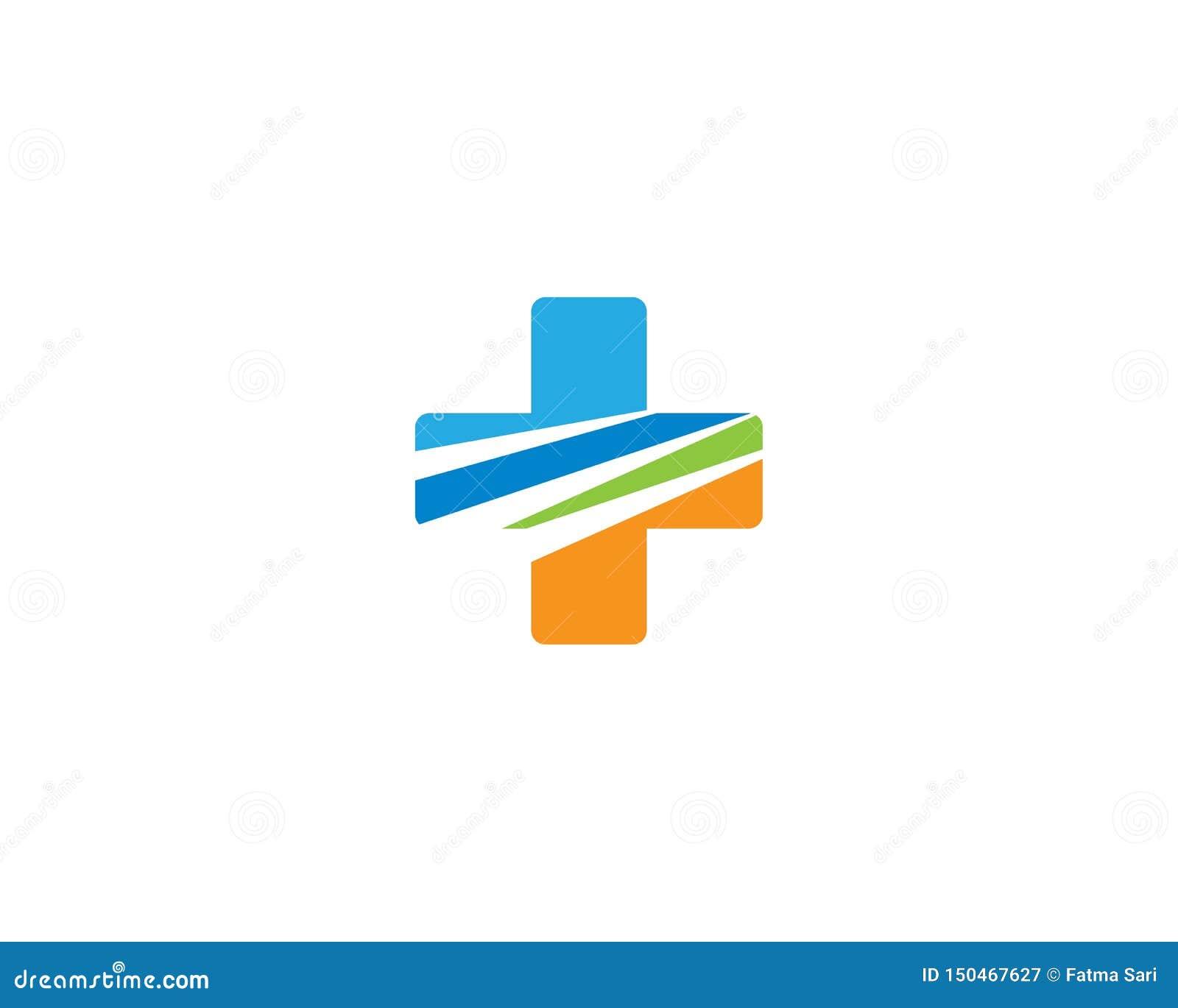 Medizinische Logoschablonenillustration