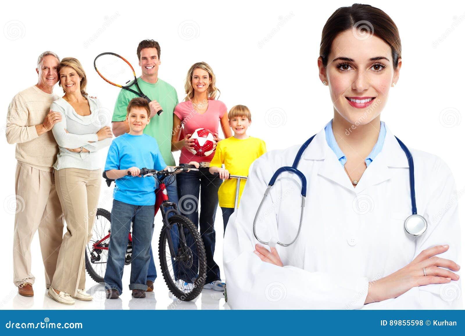 Medizinischer Hausarzt und Patienten
