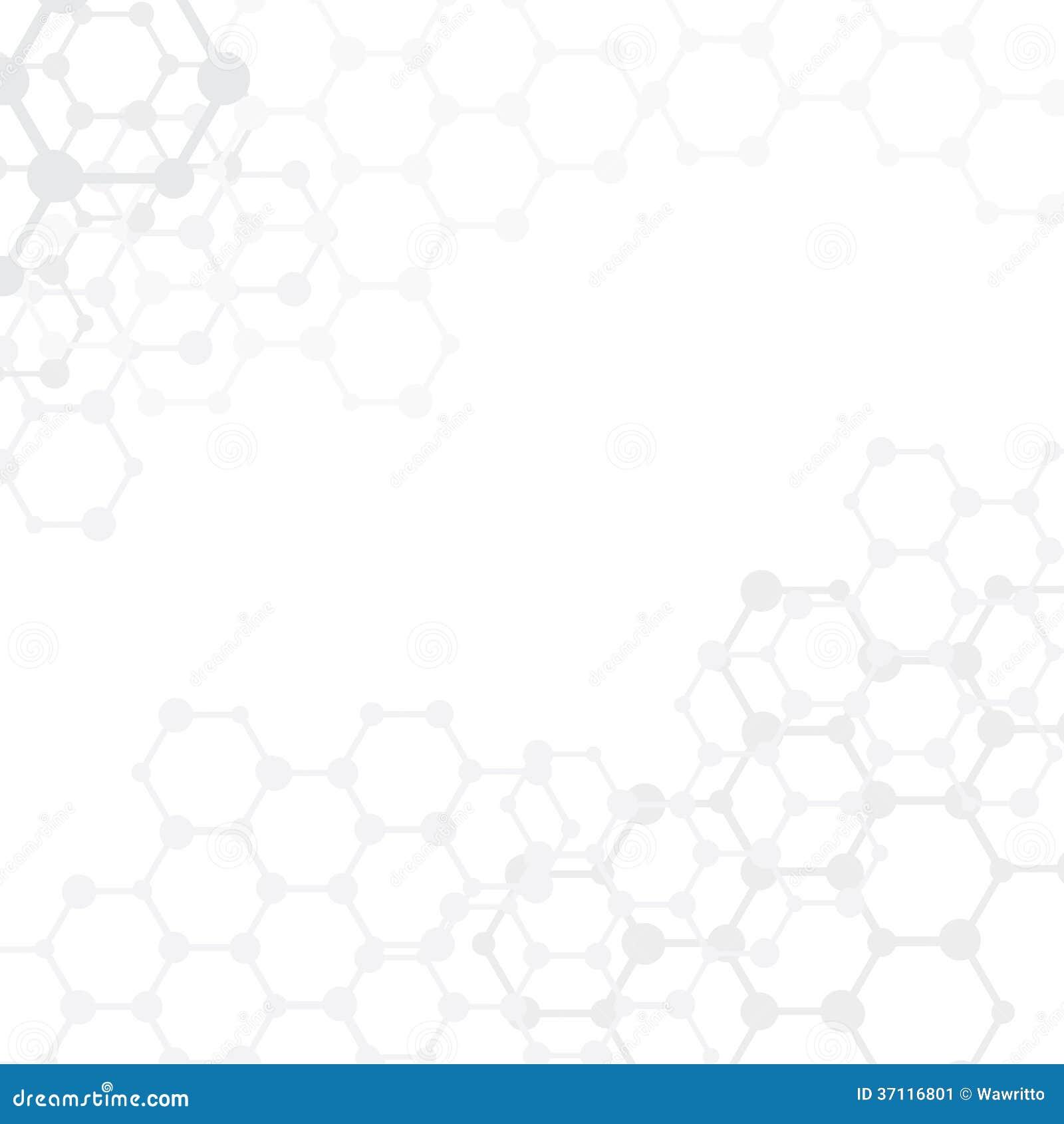 Medizinischer Hintergrund der abstrakten Moleküle mit Kopienraum ()