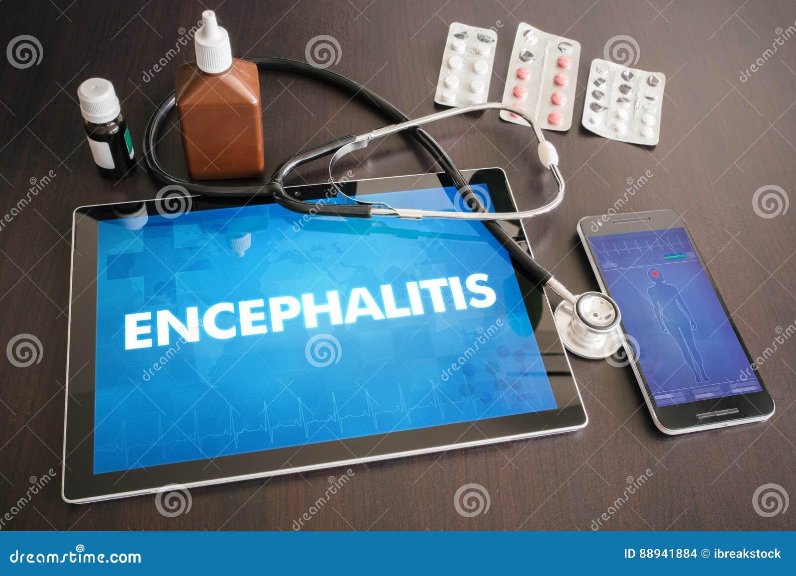 Medizinisches Konzept O der Diagnose der Gehirnentzündung (neurologische Erkrankung)
