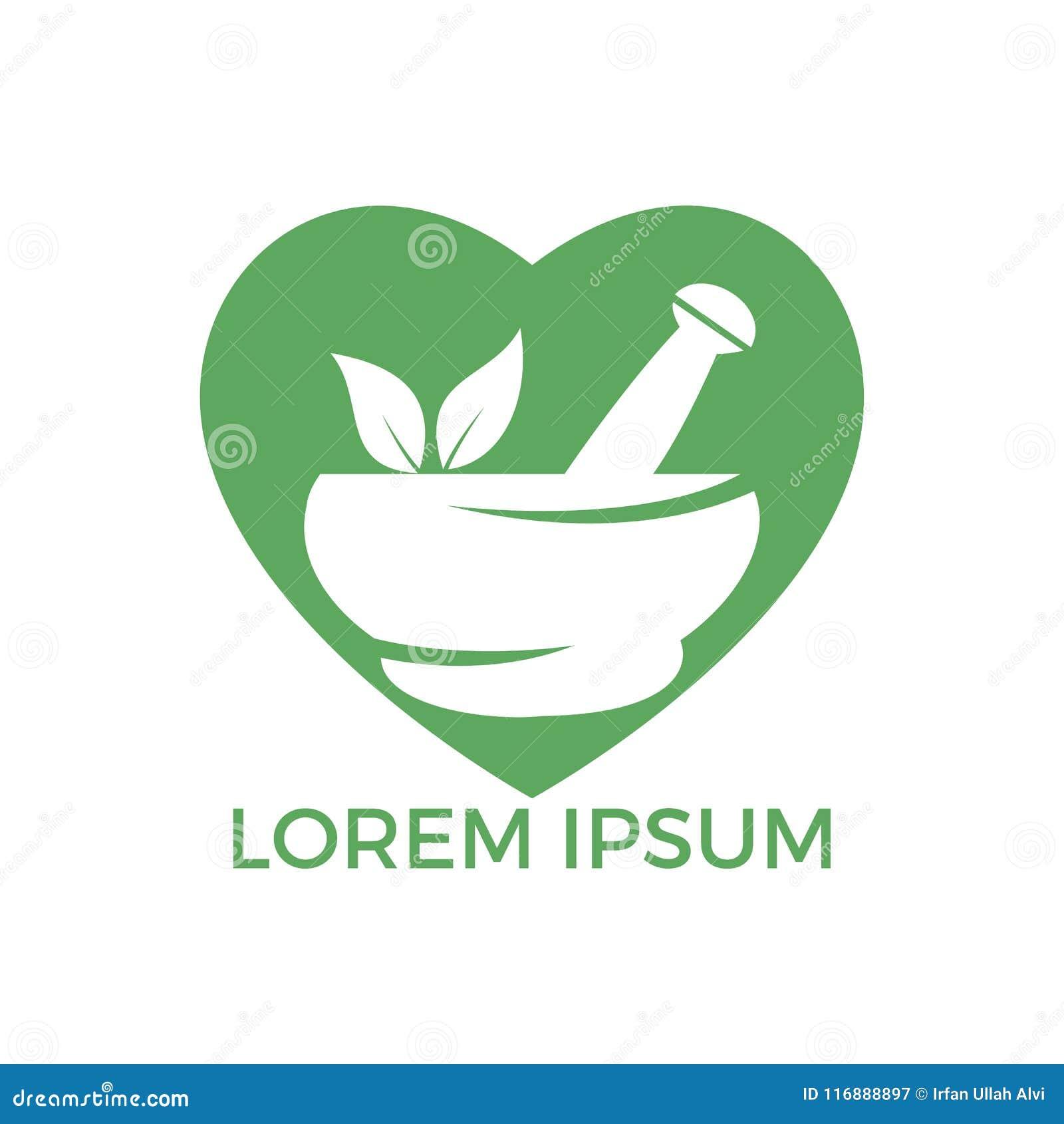 Medizinisches Logodesign der Herzformapotheke