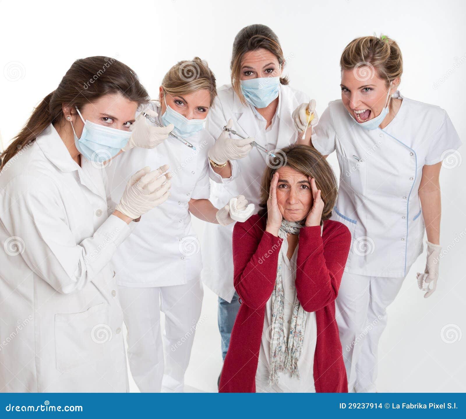 Download Medo dos dentistas foto de stock. Imagem de grupo, ortodôntico - 29237914