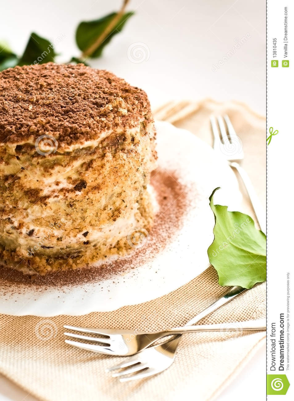 Clipart Of Honey Cake : Medovik Royalty Free Stock Photo - Image: 13810435