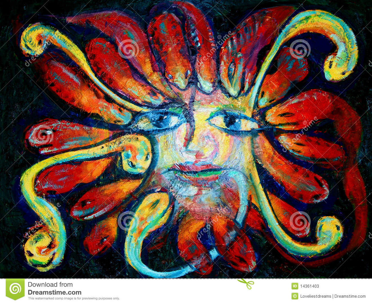 Medusa Painting Stock Illustration Illustration Of