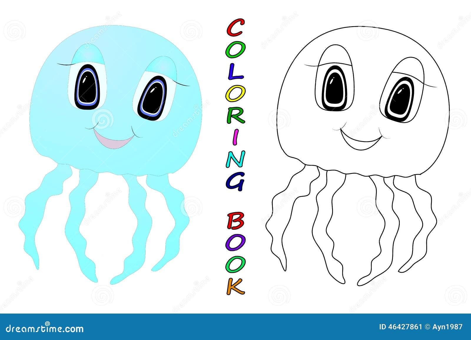 Meduse illustrazione vettoriale immagine 46427861 for Medusa da colorare