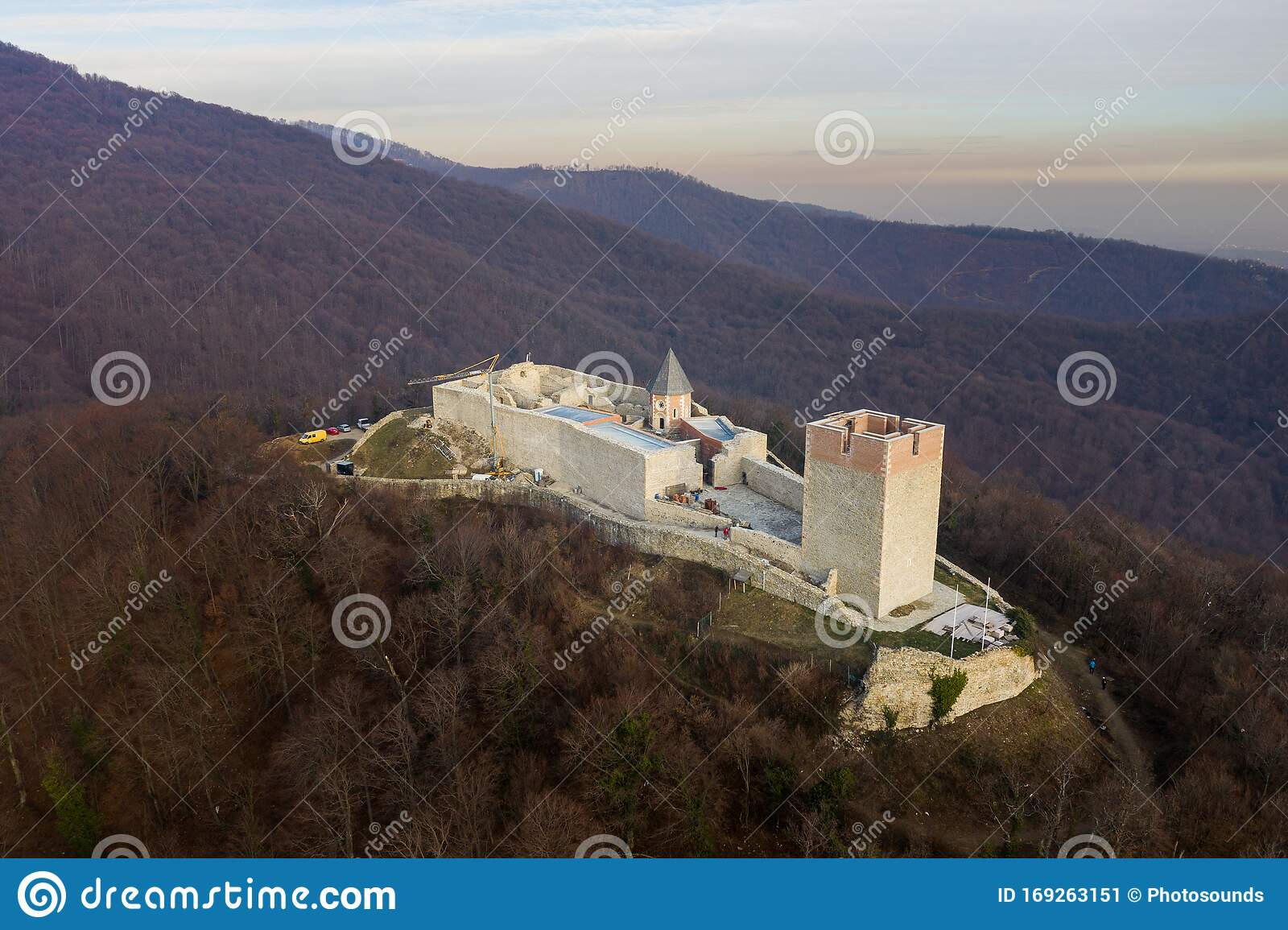 Medvedgrad Castle In Zagreb Croatia Castle Is Under Construction Beautiful Medvednica Mountain In Background Stock Image Image Of City Monument 169263151