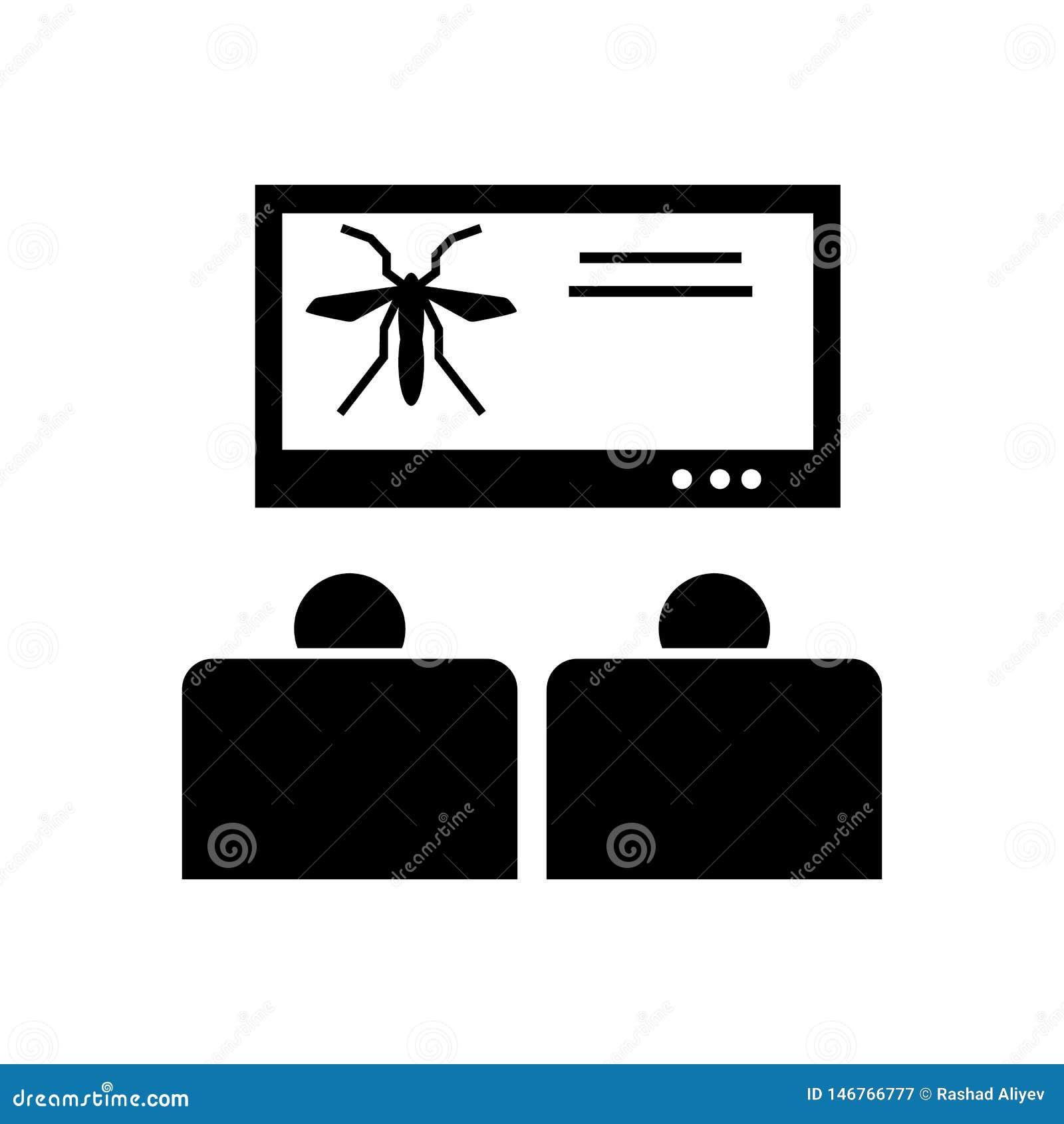 Medvetenhet aktion, denguefeber, virussymbol Best?ndsdel av aedesmygga- och denguefebersymbolen H?gv?rdig kvalitets- symbol f?r g