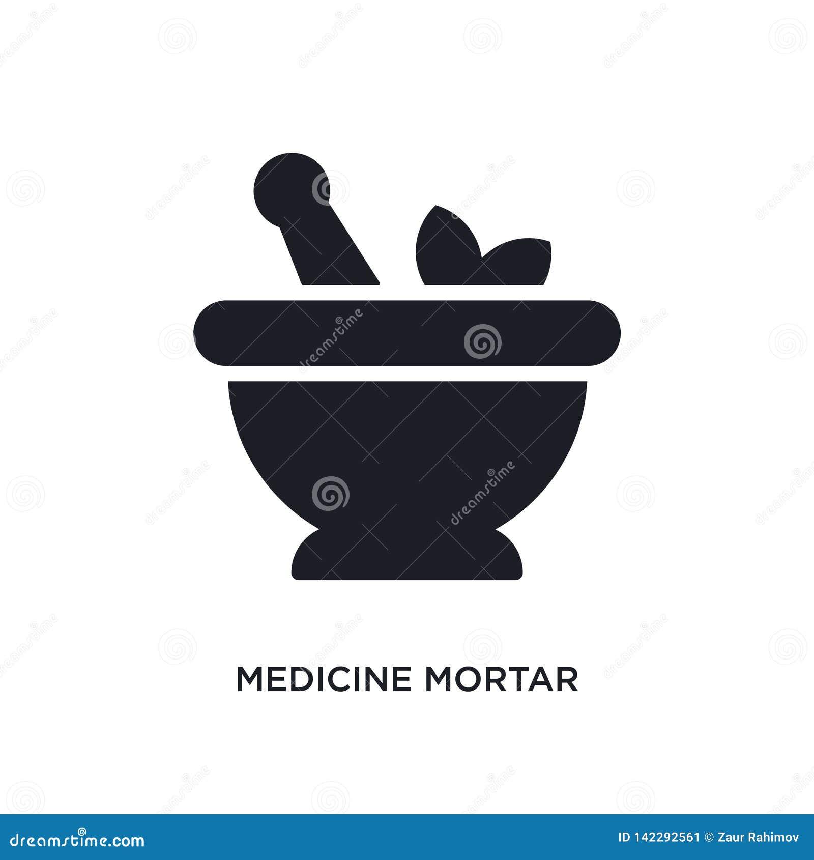 Medycyna moździerza odosobniona ikona prosta element ilustracja od ostatecznych glyphicons pojęcia ikon medycyna moździerzowy edi