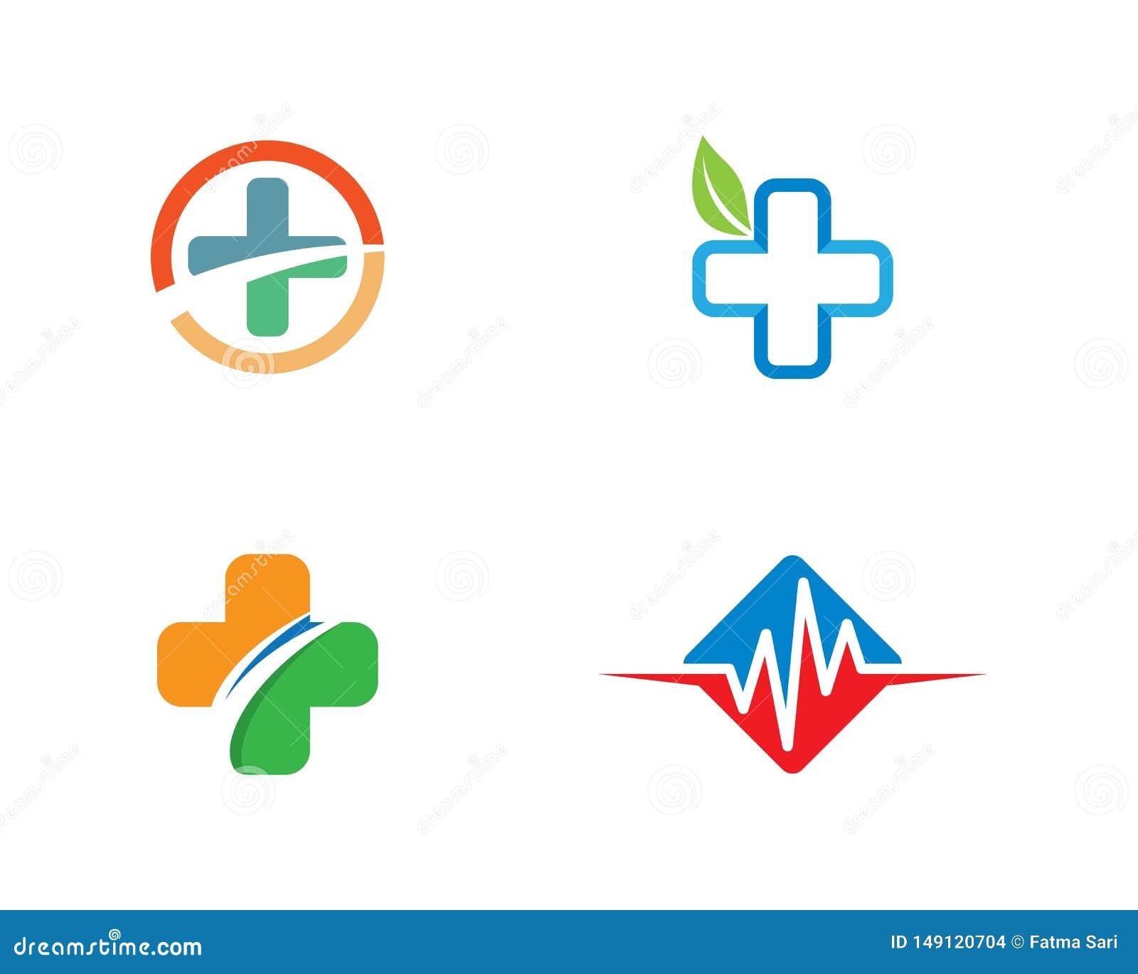 Medyczna loga szablonu ilustracja