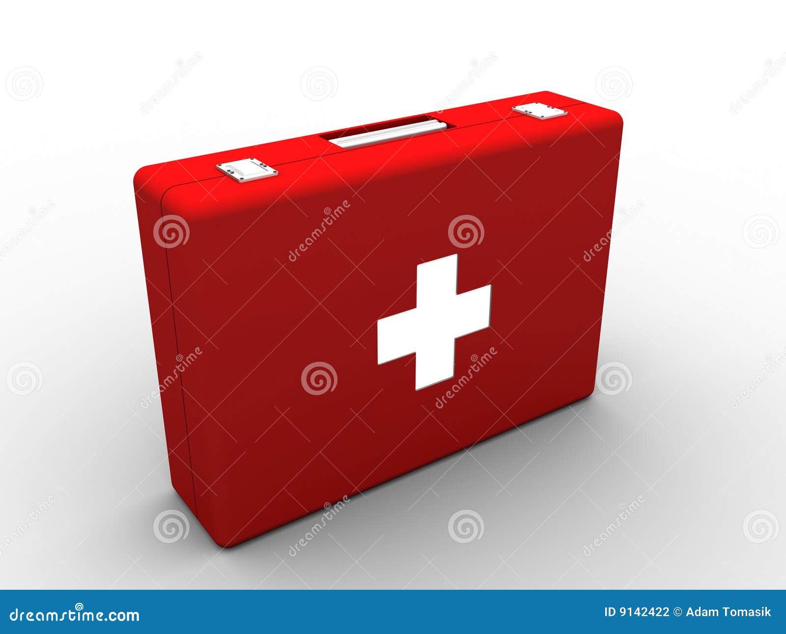 Medyczna zestaw czerwień