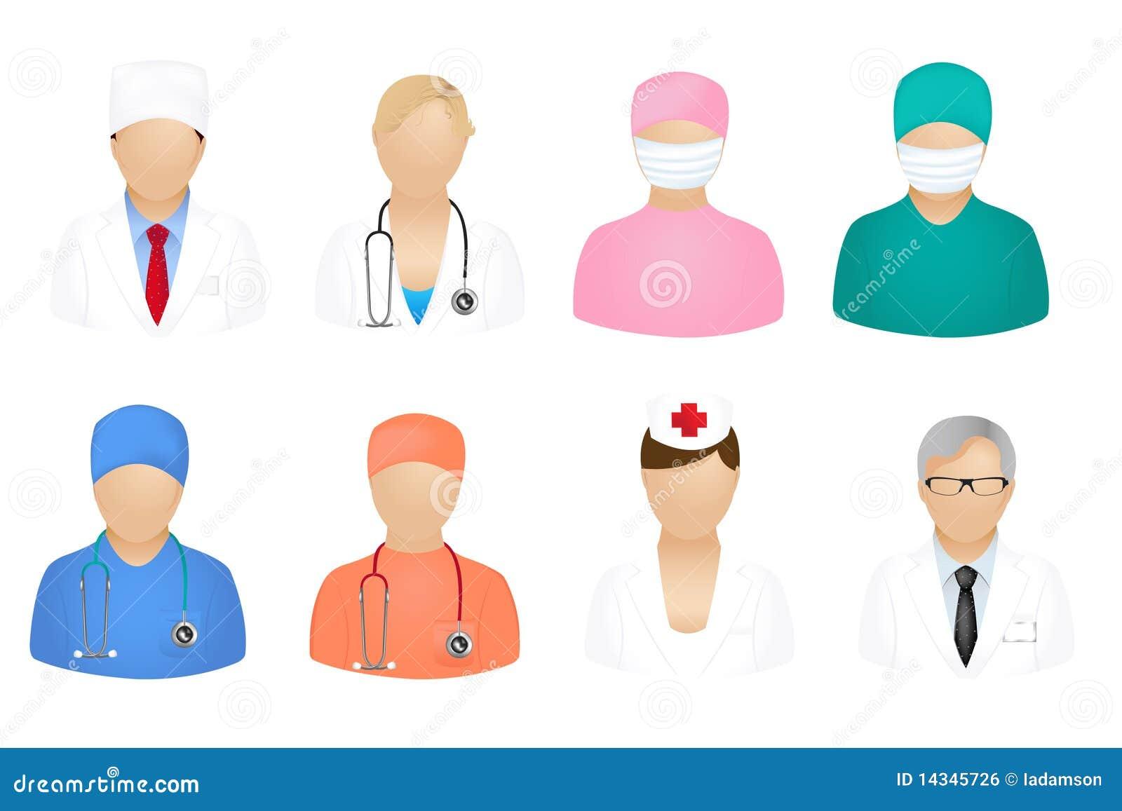 Medyczni ludzie ikona wektorów