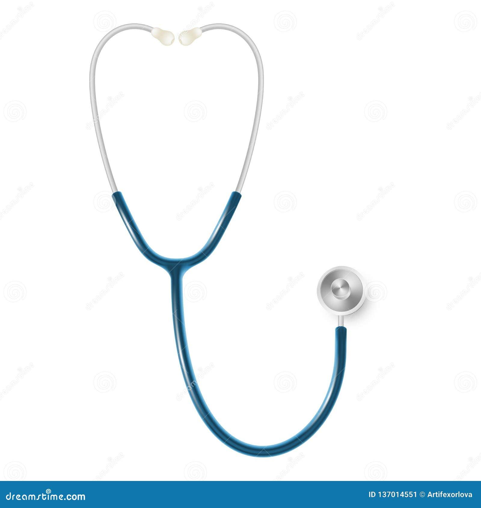Medyczny i opieka zdrowotna pojęcie, doktorski s stetoskop odizolowywający na białym tle 10 eps