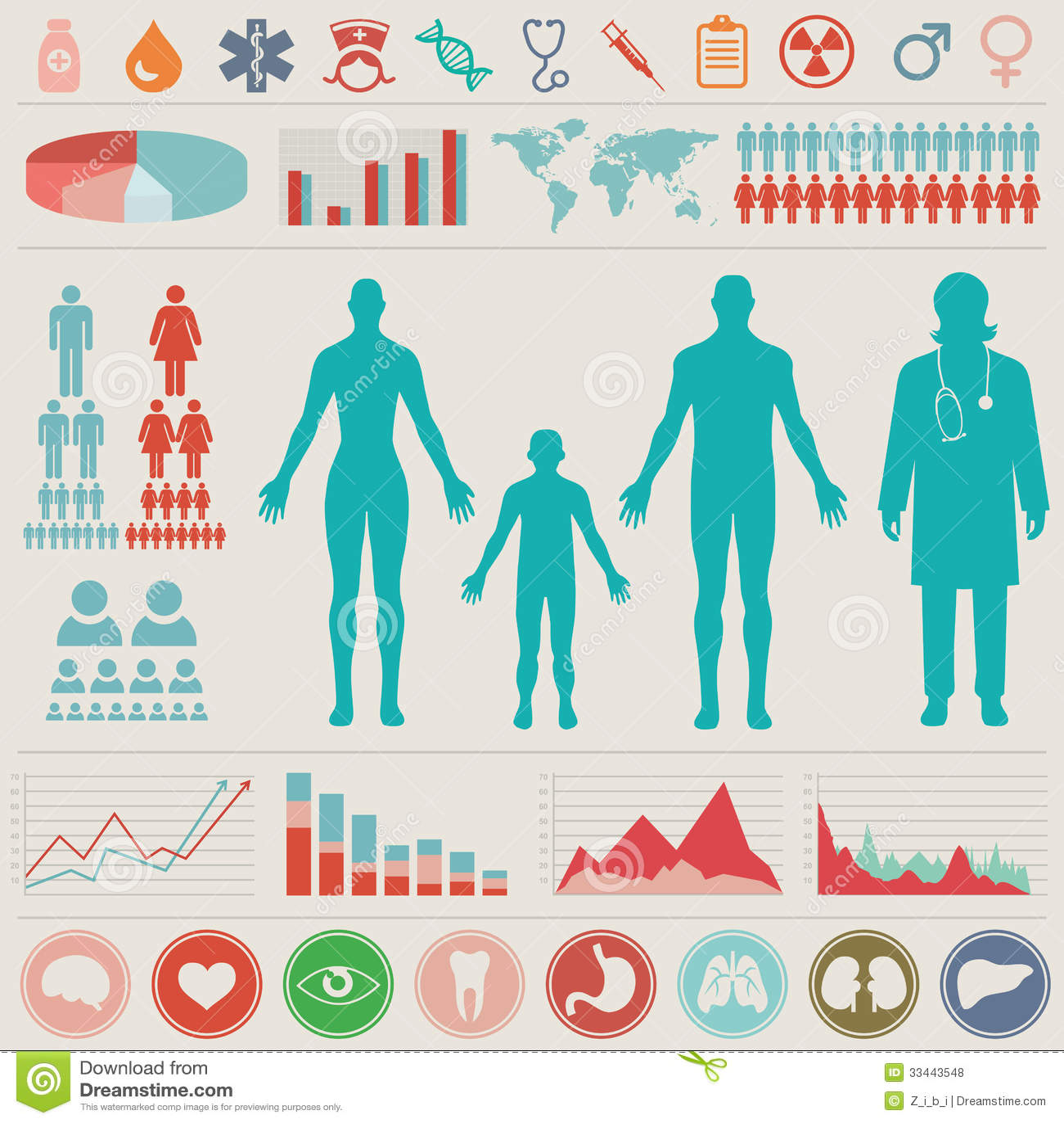 Medyczny Infographic set