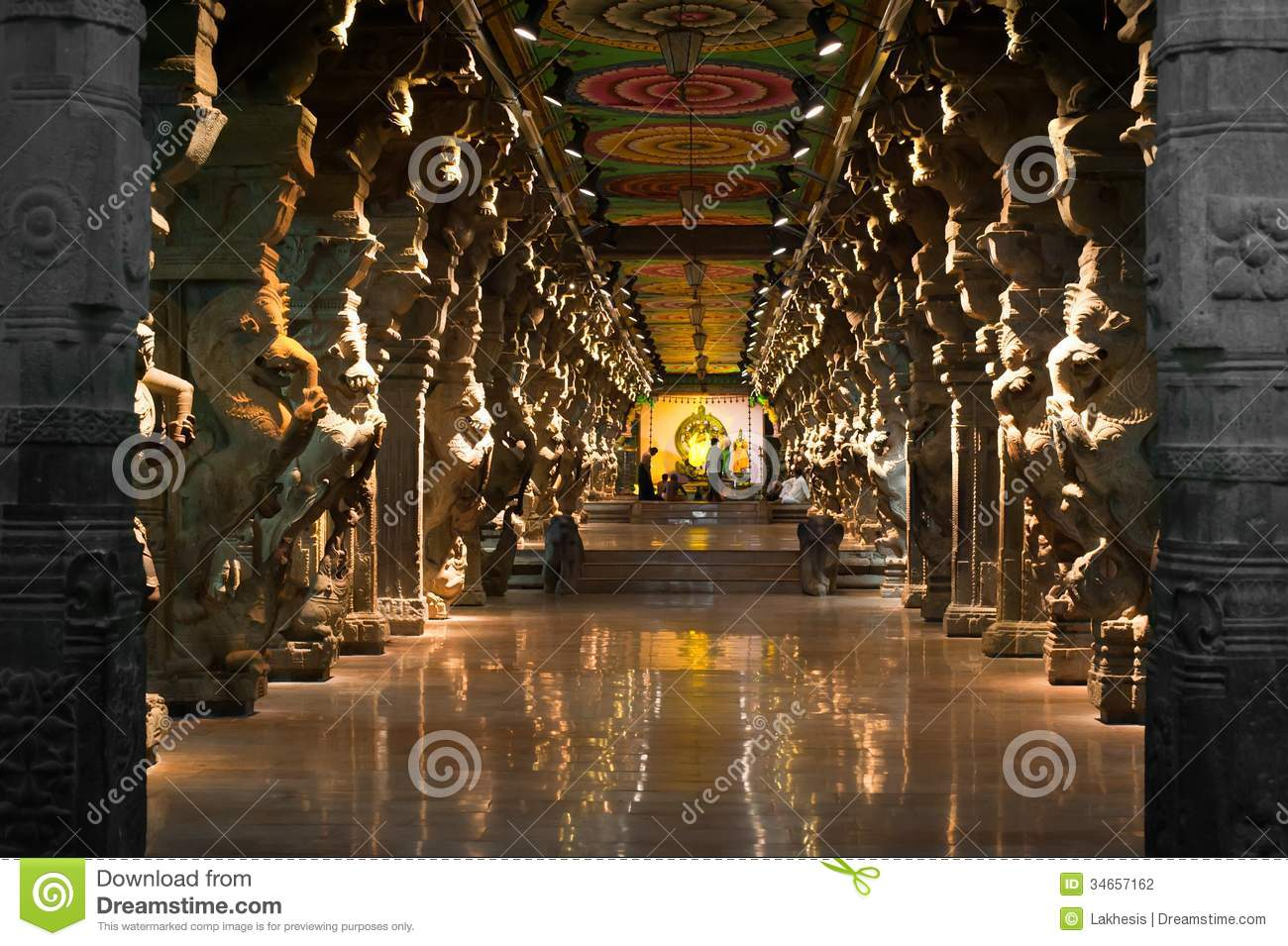 Meenakshi Sundareswarar Temple India Madurai Stock Photography