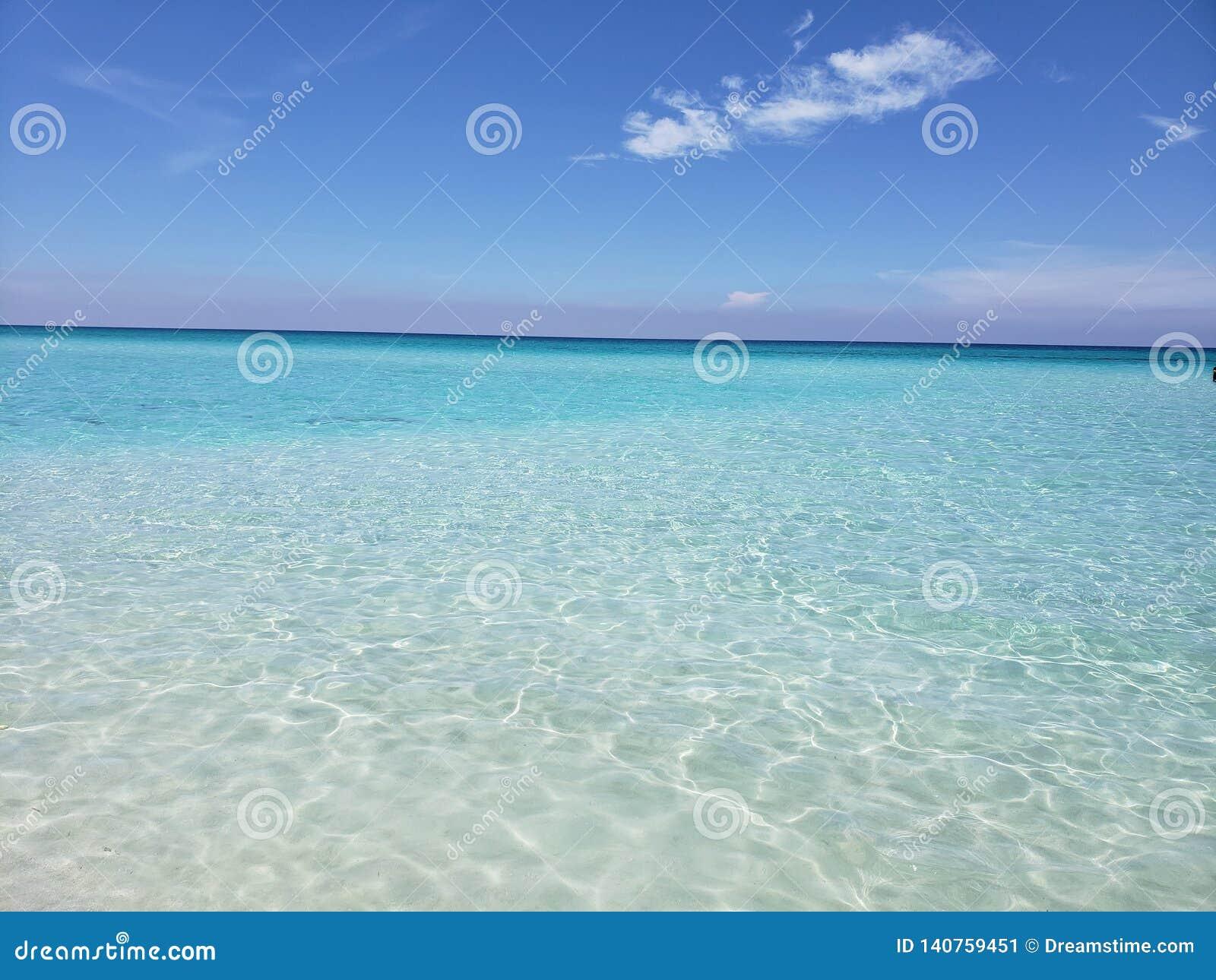 Meer, Himmel und seine Schatten des Blaus