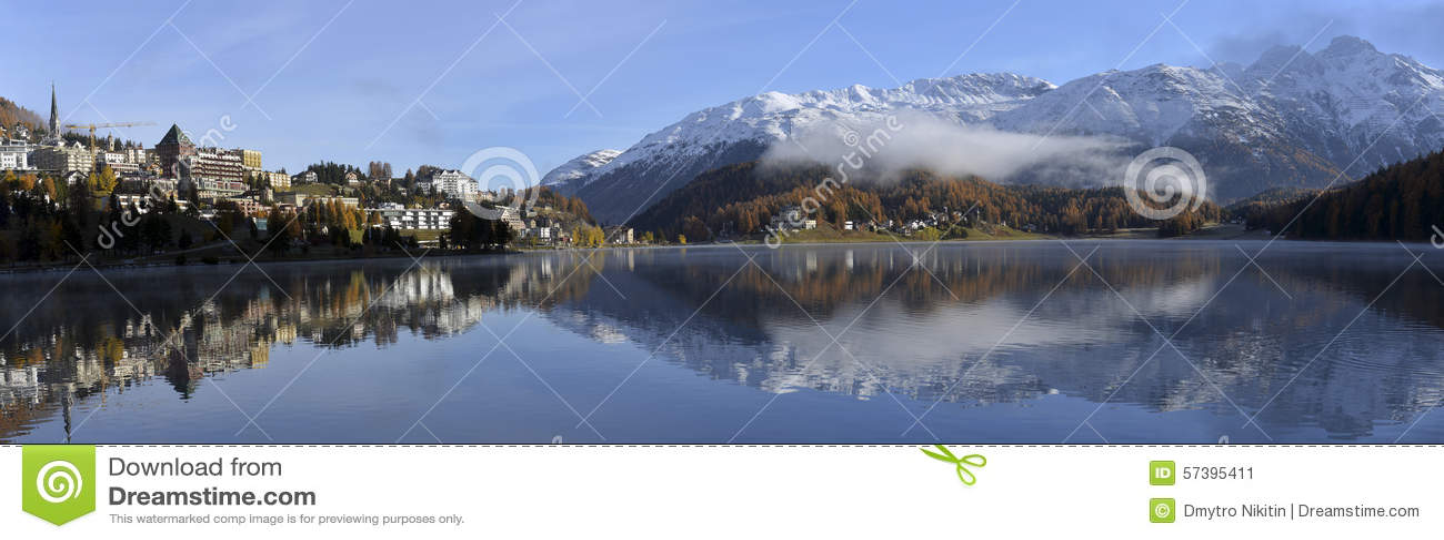 Meer St Moritz in de herfst