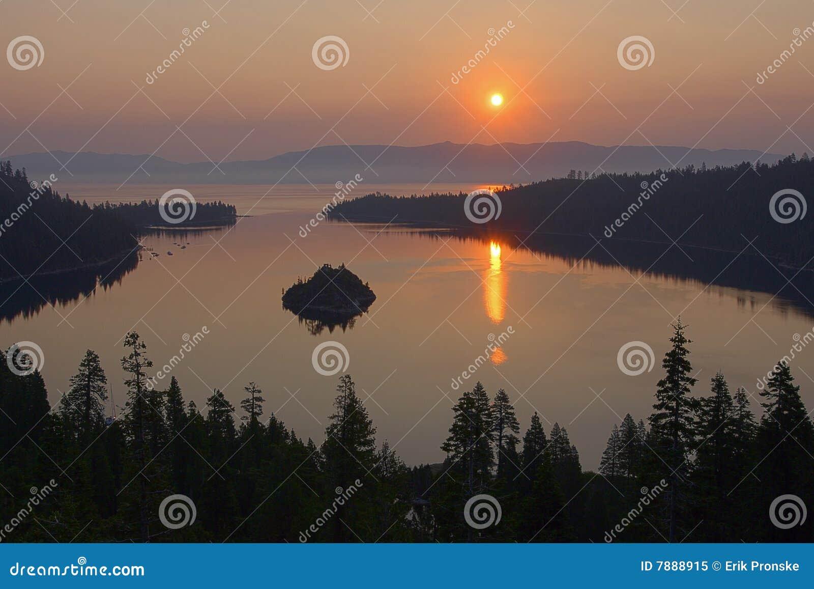 Meer tahoe-02 van de zonsopgang