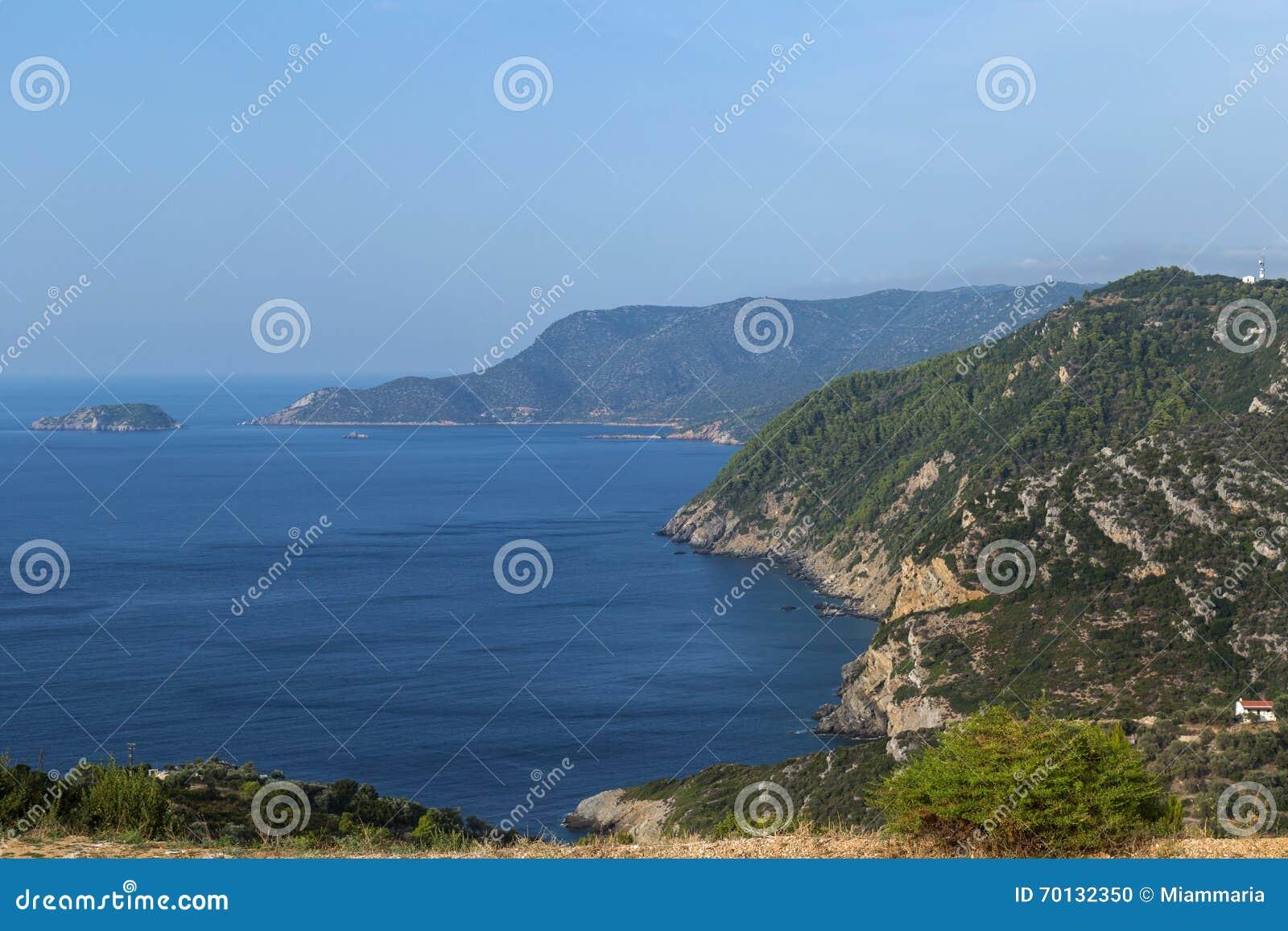 Meerblick in Alonnisos-Insel, Griechenland