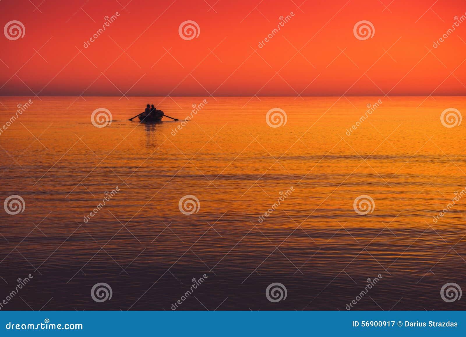 Meerblick mit Boot