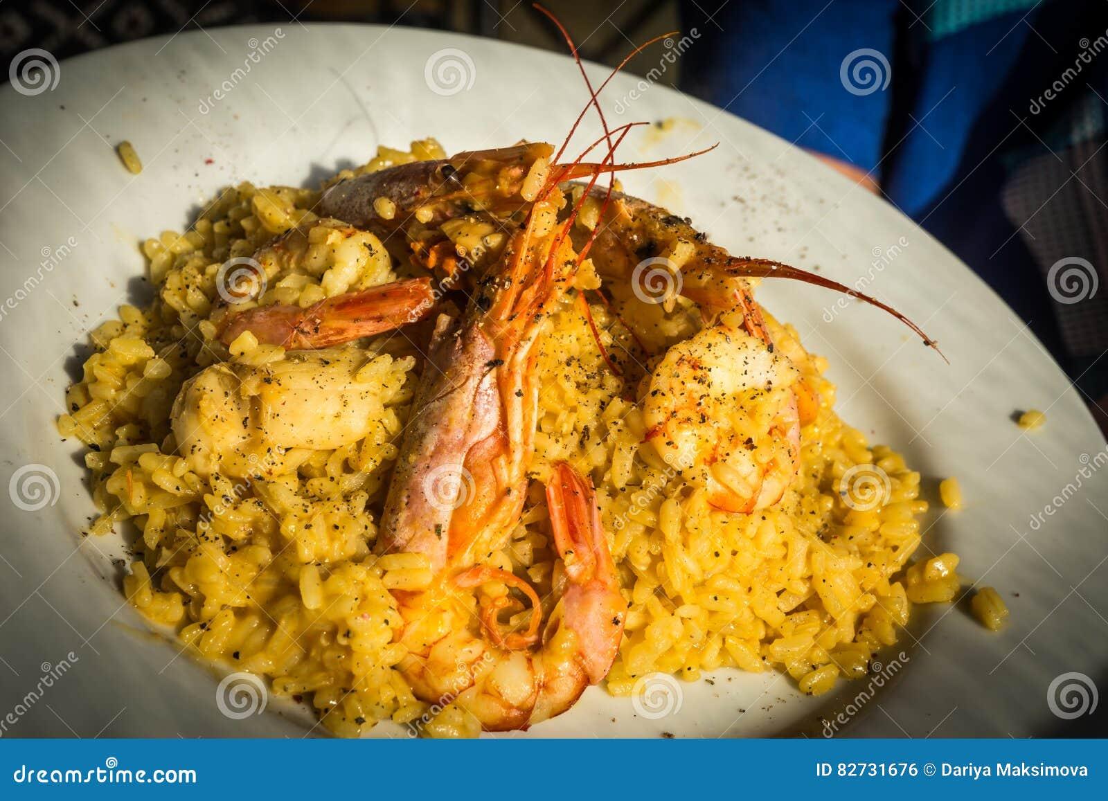 Meeresfrüchte Risotto mit Miesmuscheln und Garnele, Griechenland