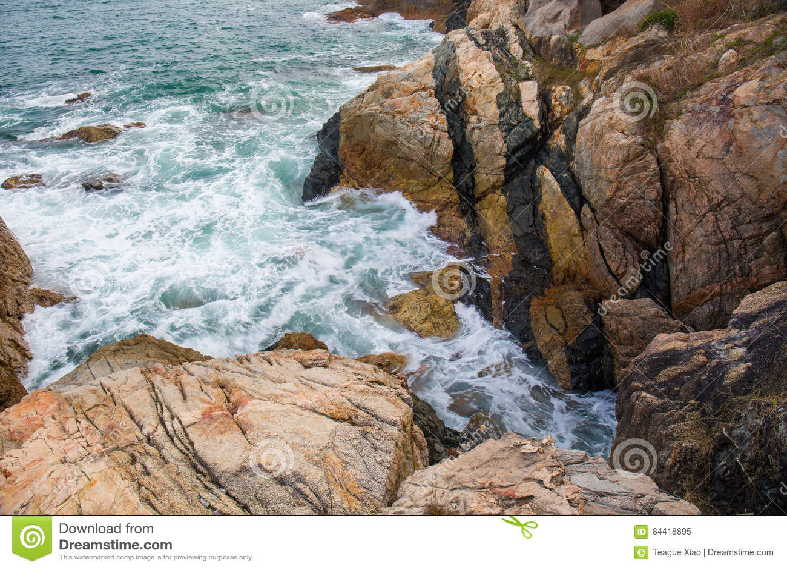 Meereswogespritzen auf dem Riffvideo