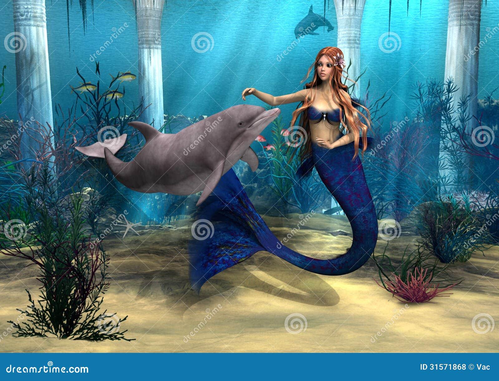 Meermin en Dolfijn