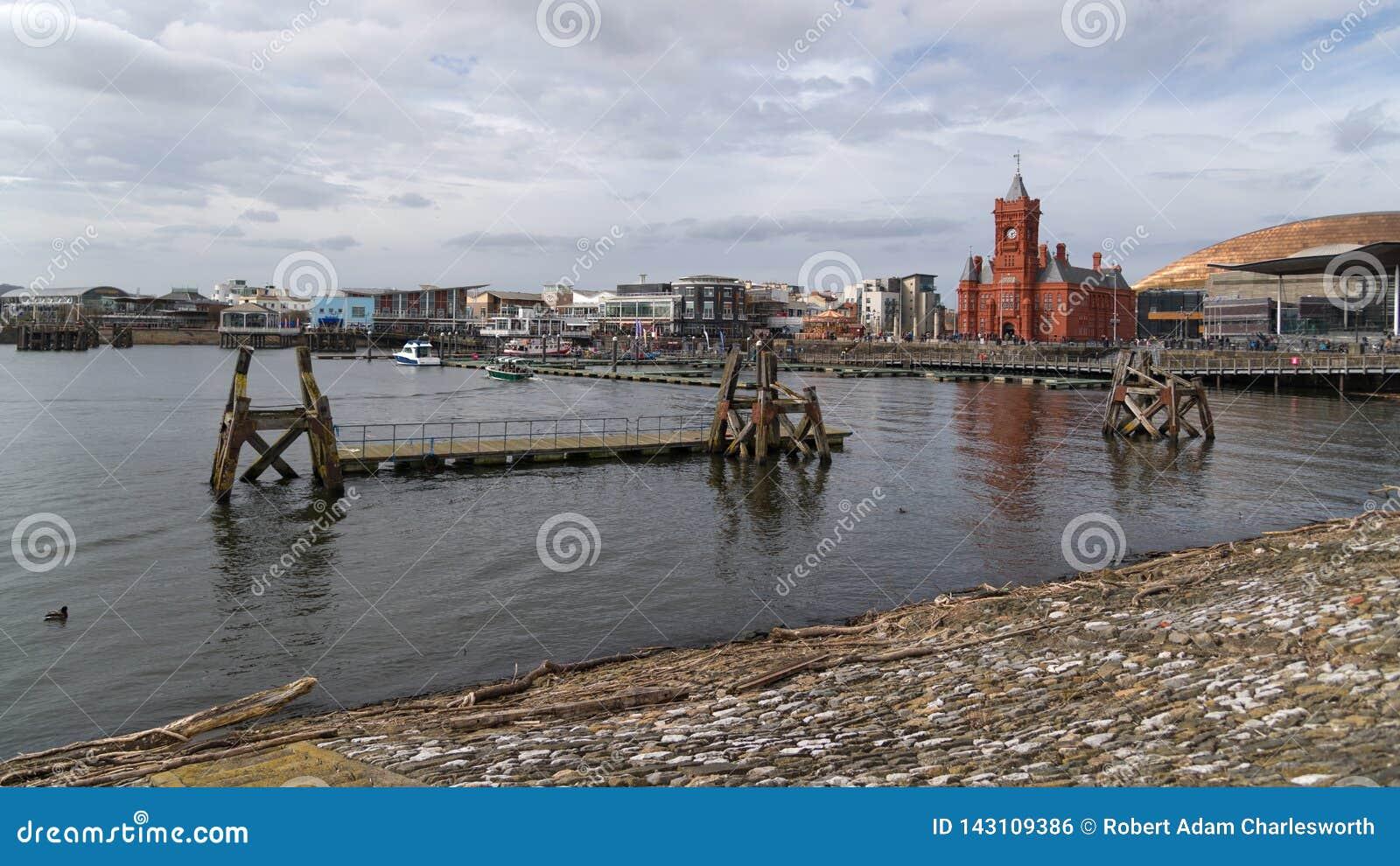 Meerminkade bij de Baai van Cardiff