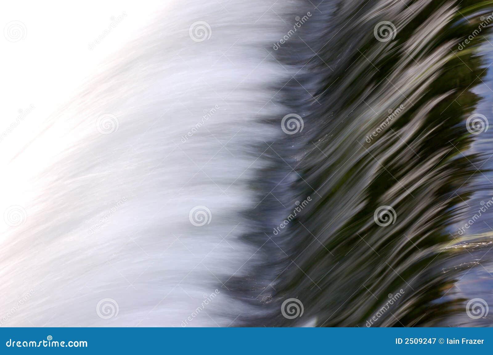 Meeslepend water over waterkering
