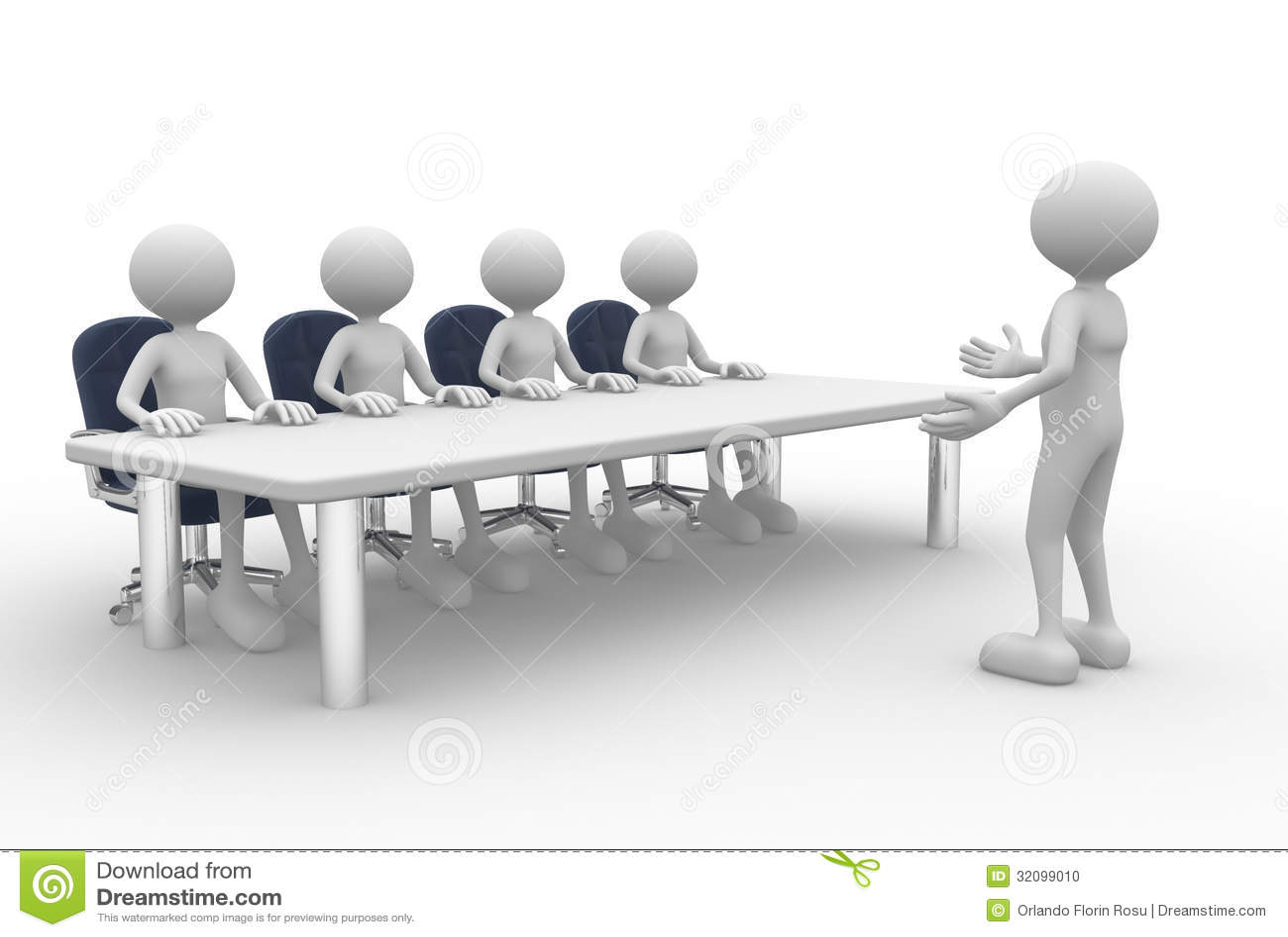 Meeting Stock Illustration Illustration Of Puppets