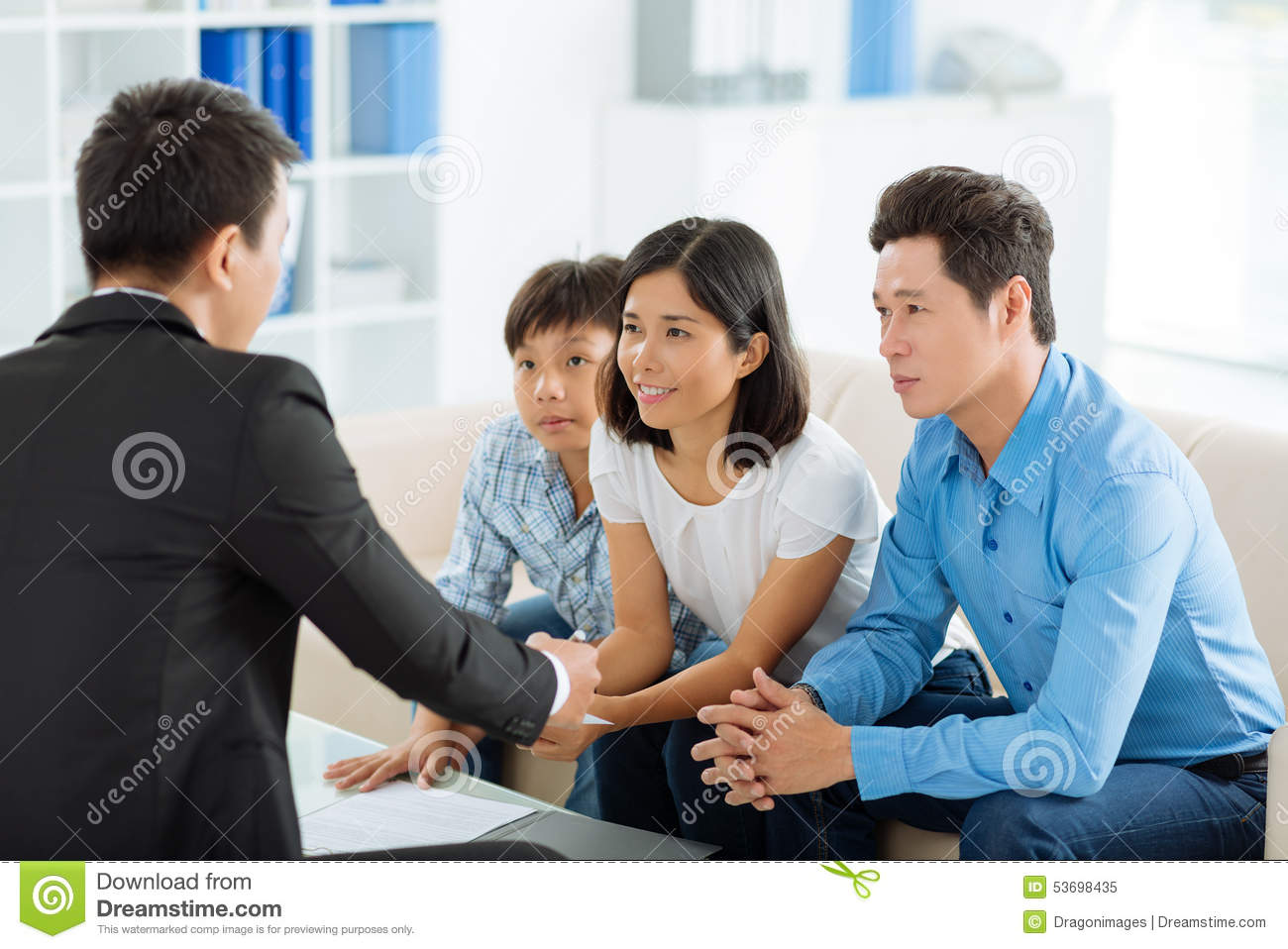 Meeting estate agent stock photo image 53698435 - Family office real estate ...