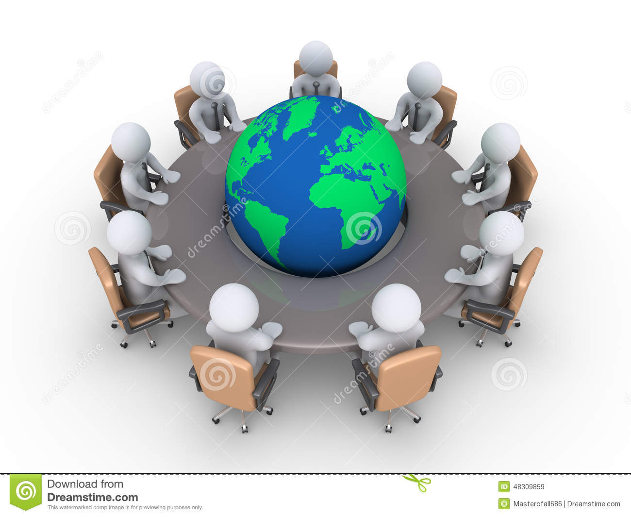 meeting about global problems stock illustration