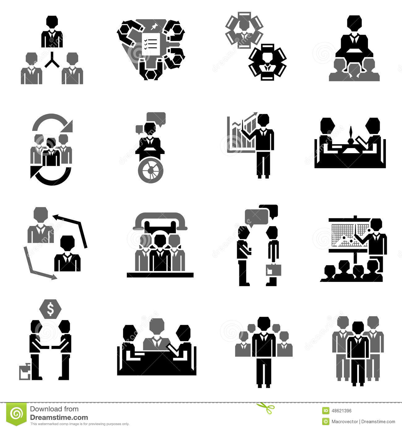 Meeting Icon Black stock vector. Illustration of people ...