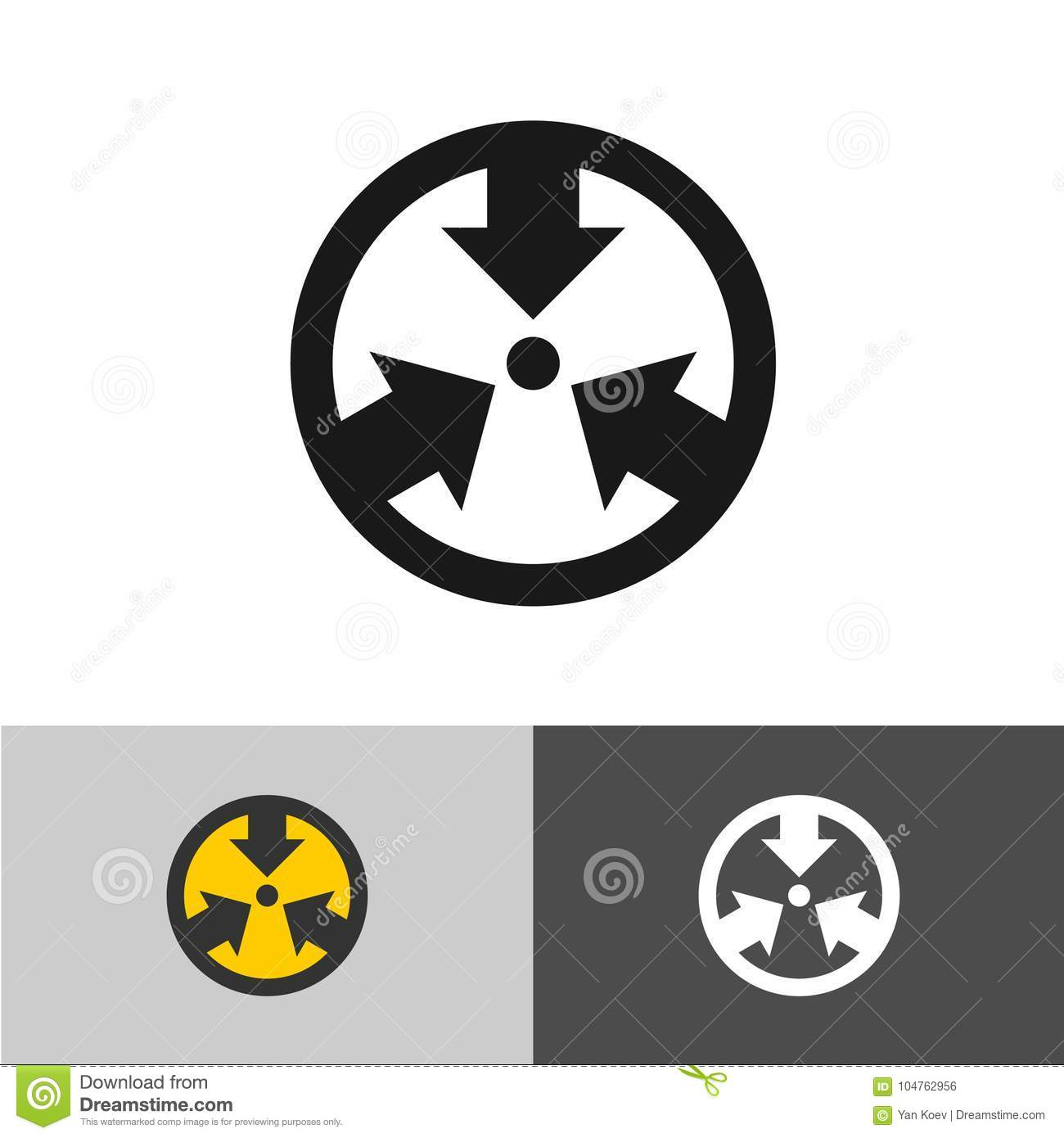 Meeting Point Icon Destination Place Map Mark Symbol Stock Vector