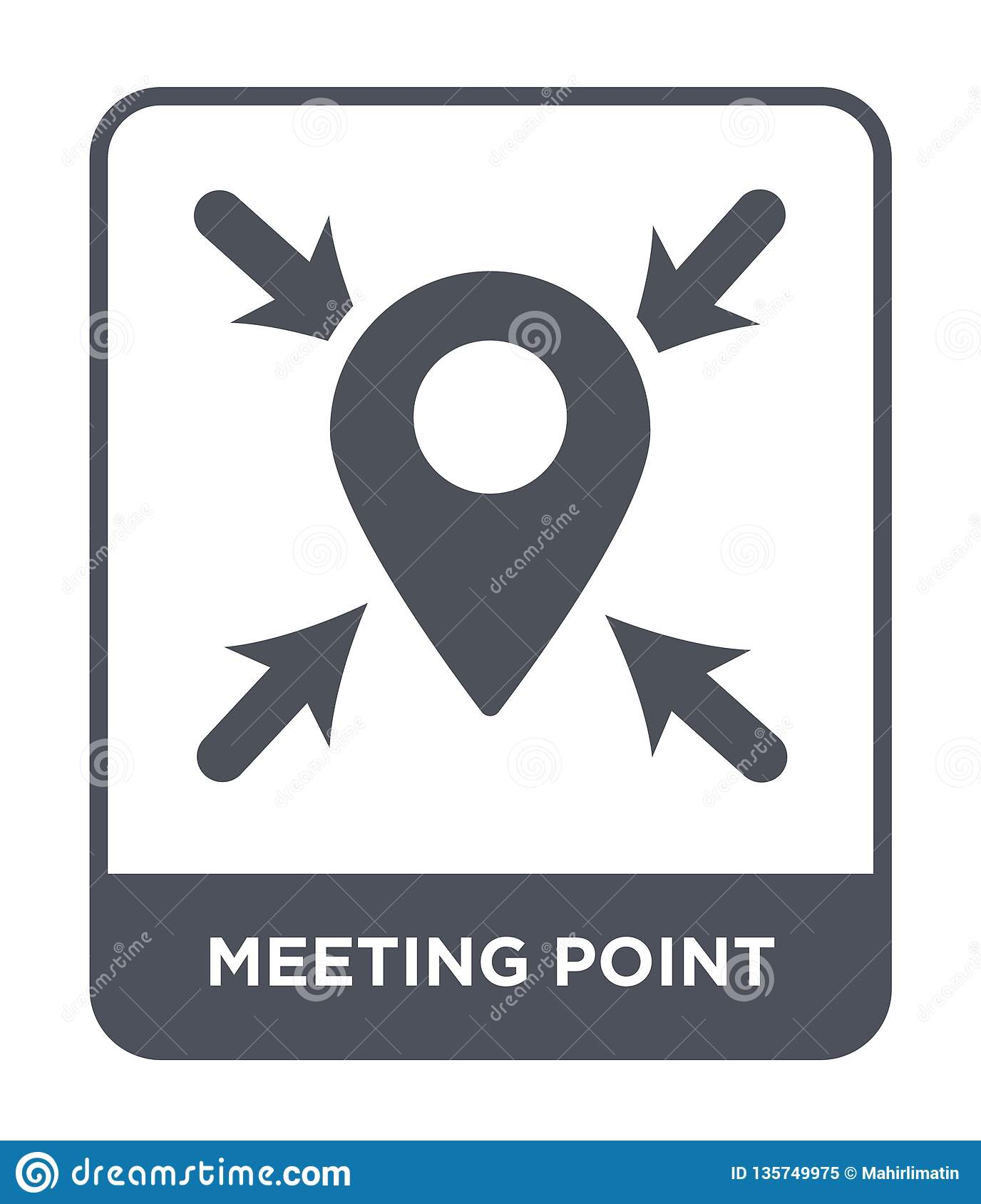 meeting point icon in trendy design style. meeting point icon isolated on white background. meeting point vector icon simple and