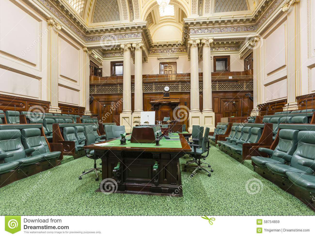 Houses Of Parliament Interior. Meeting room inside Parliament House Room Inside Editorial Stock Image
