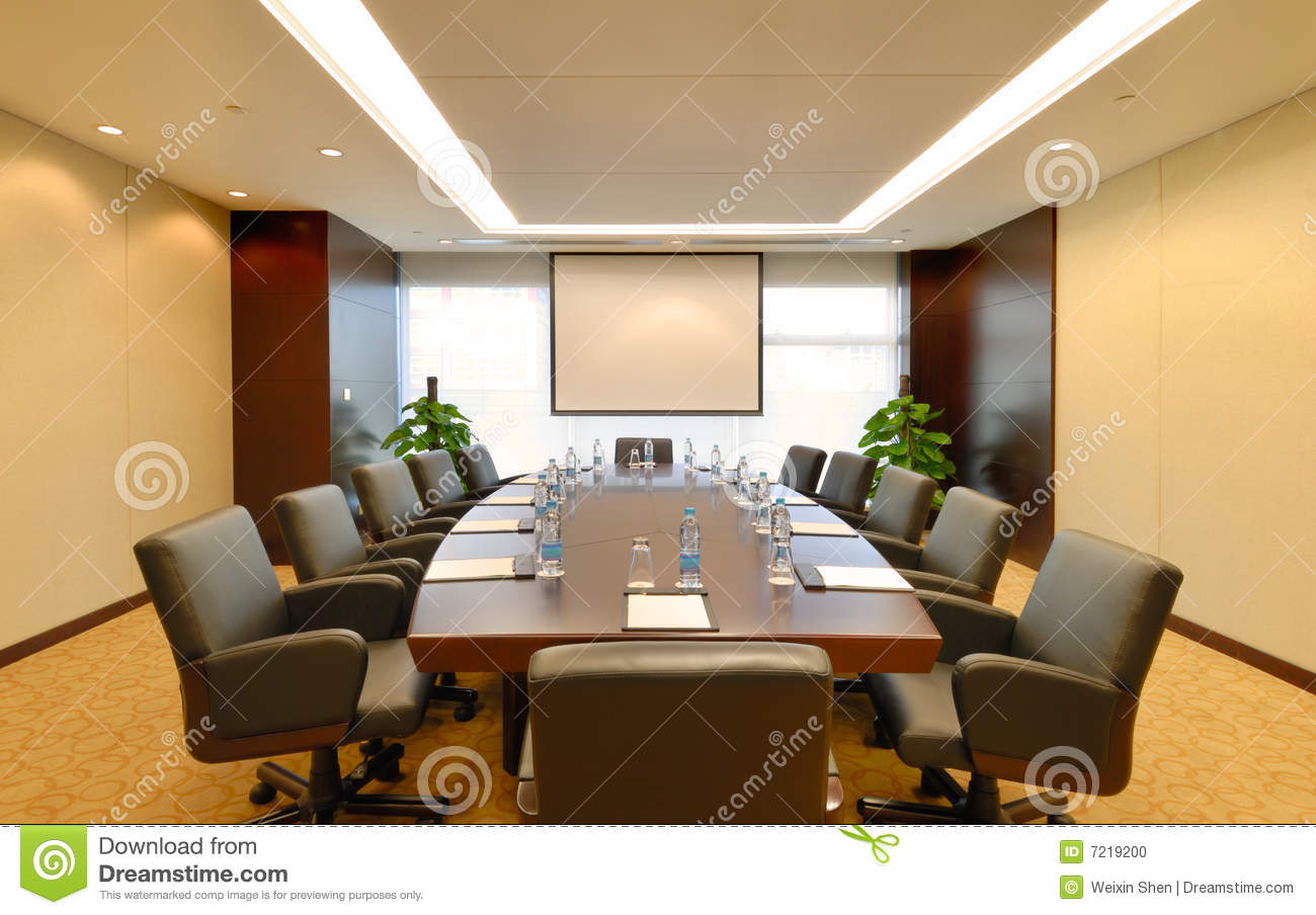 Meeting Room Interior Stock Photo Image Of Meeting Board