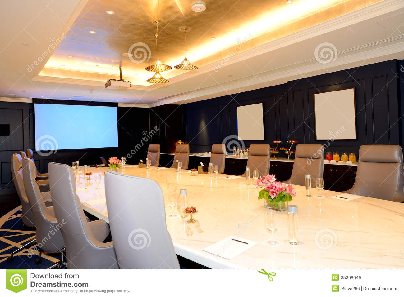 The Meeting Room Interior At Luxury Hotel Stock Images - Image