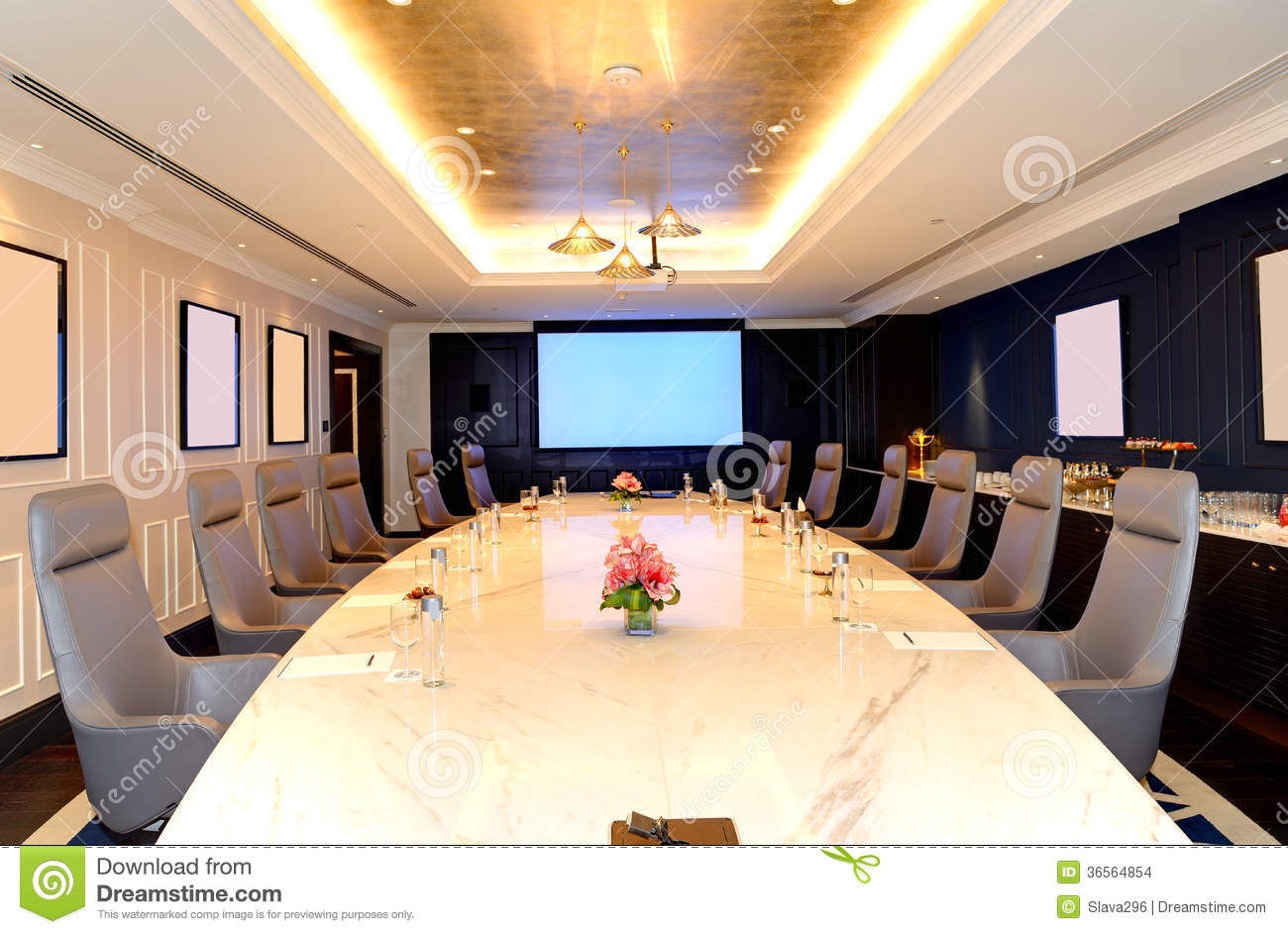 Interior Design Web App The Meeting Room Interior At Luxury Hotel Stock Images