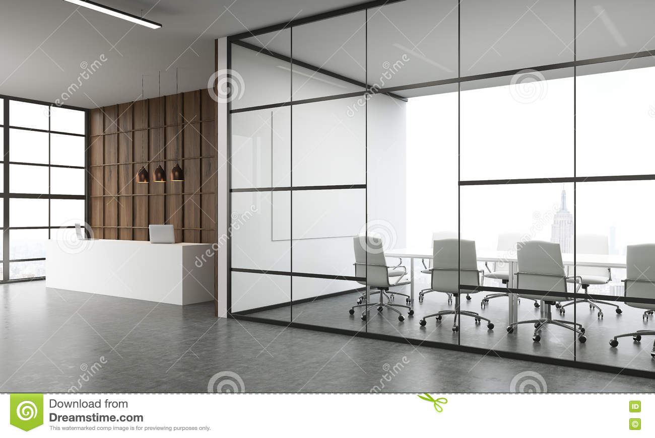 Trendy interior white waiting room interiordecodir com - Meeting Room And Reception Stock Illustration Image