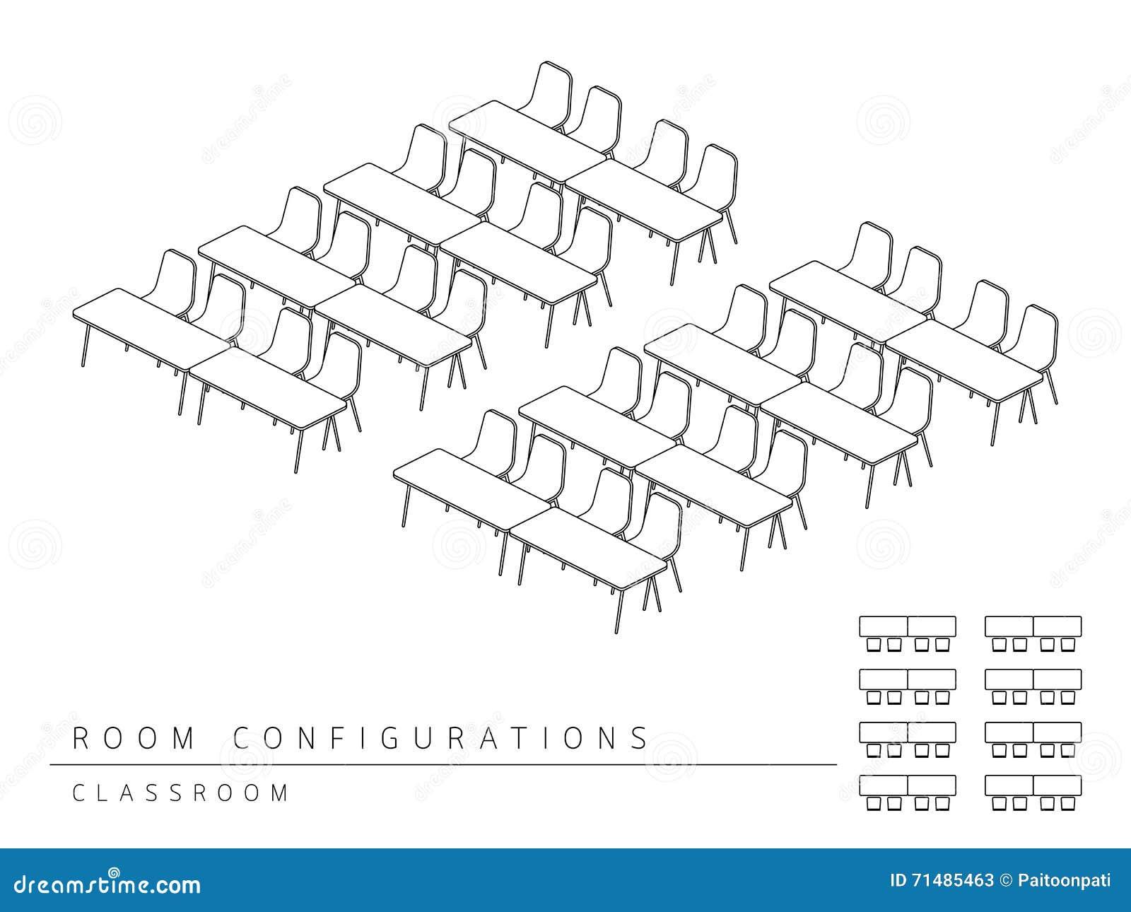 classroom set up diagram style